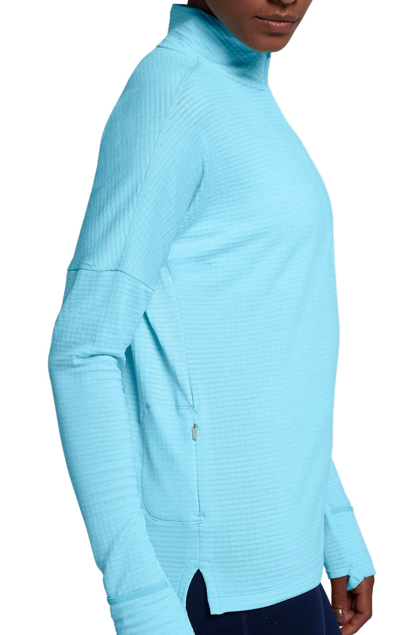 Therma Sphere Element Running Pullover Top,                             Alternate thumbnail 3, color,                             Polarized Blue/ Htr