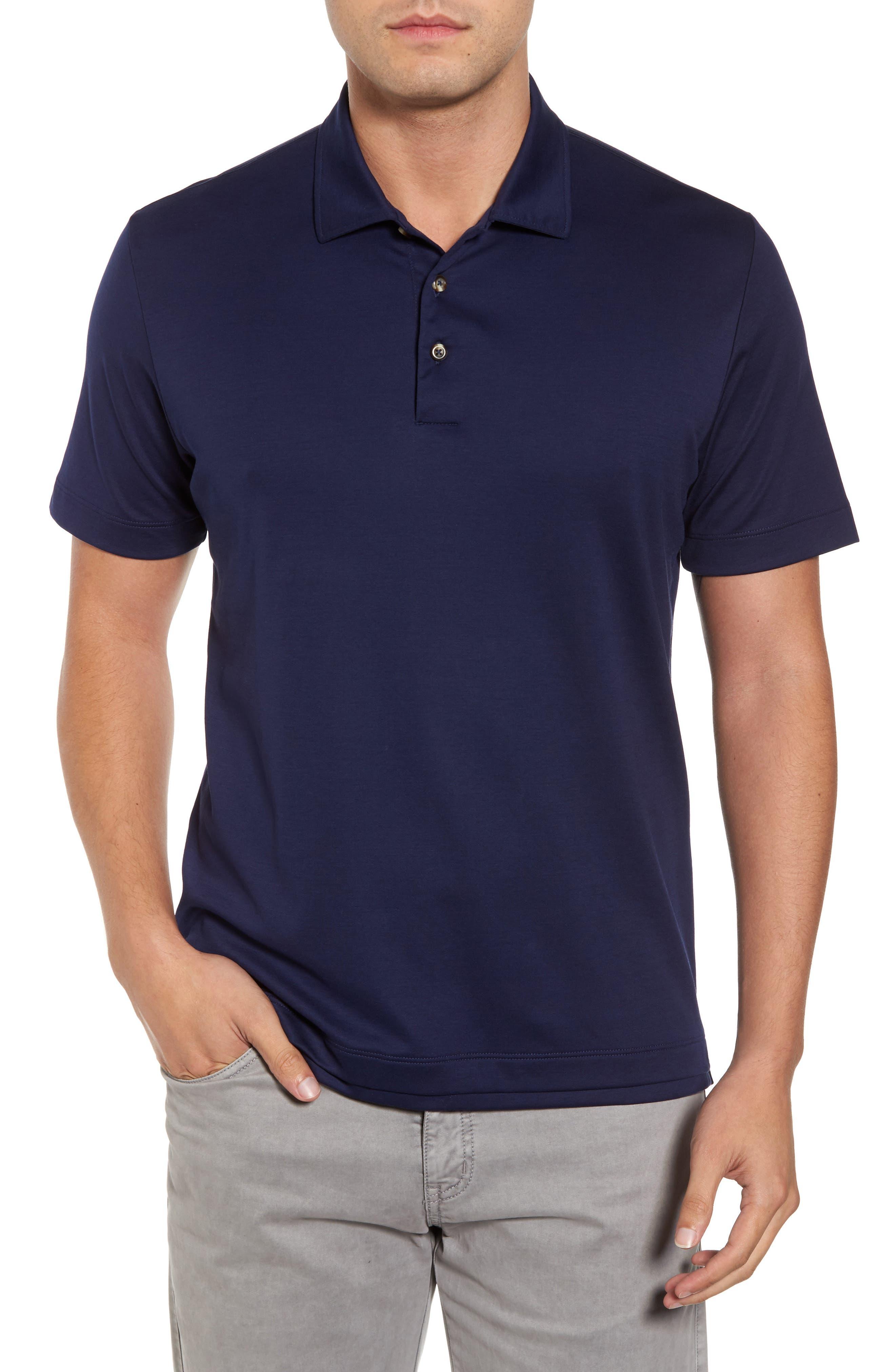Interlock Polo,                         Main,                         color, Navy
