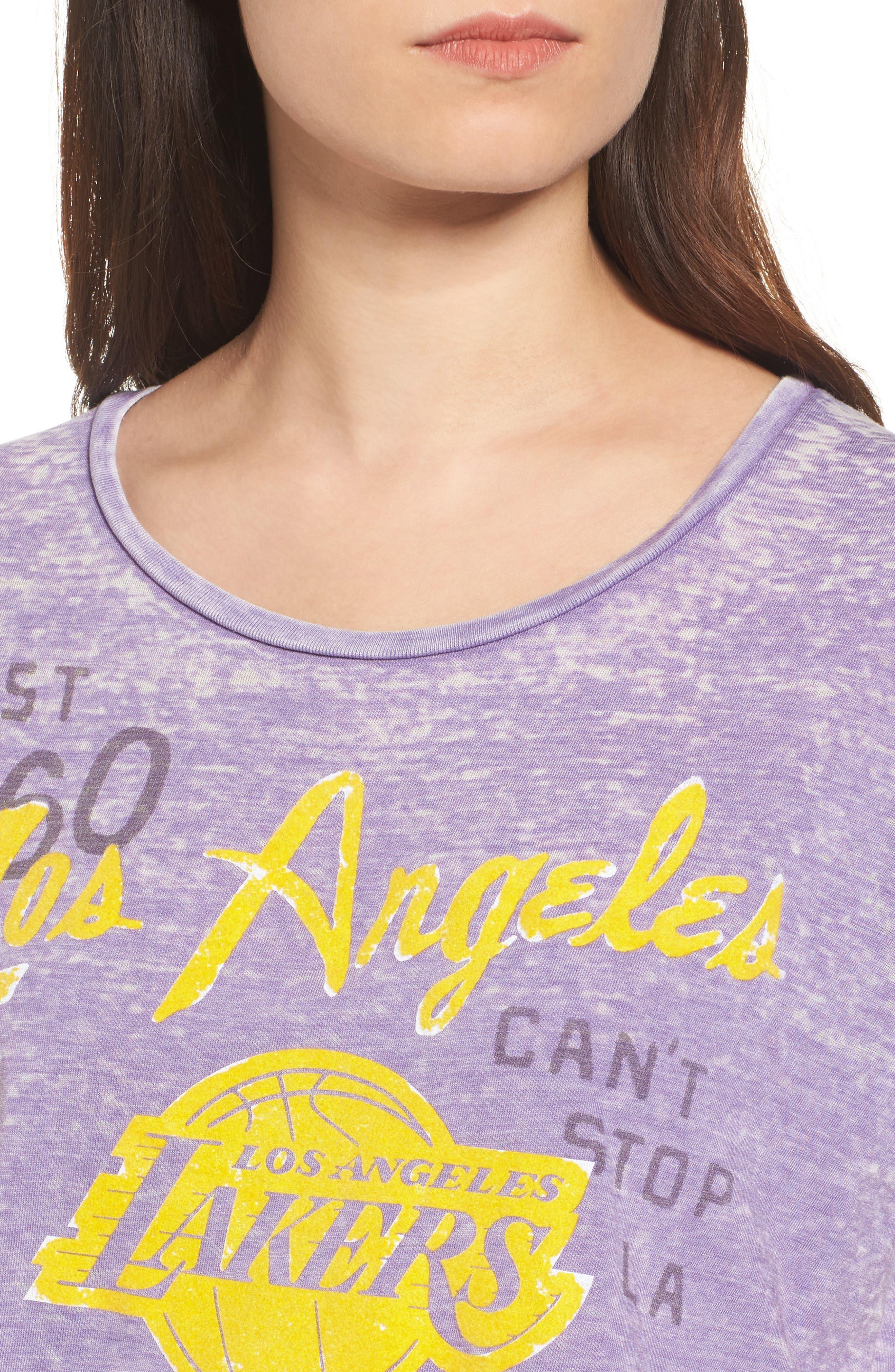 NBA Los Angeles Lakers Tee,                             Alternate thumbnail 4, color,                             Plum