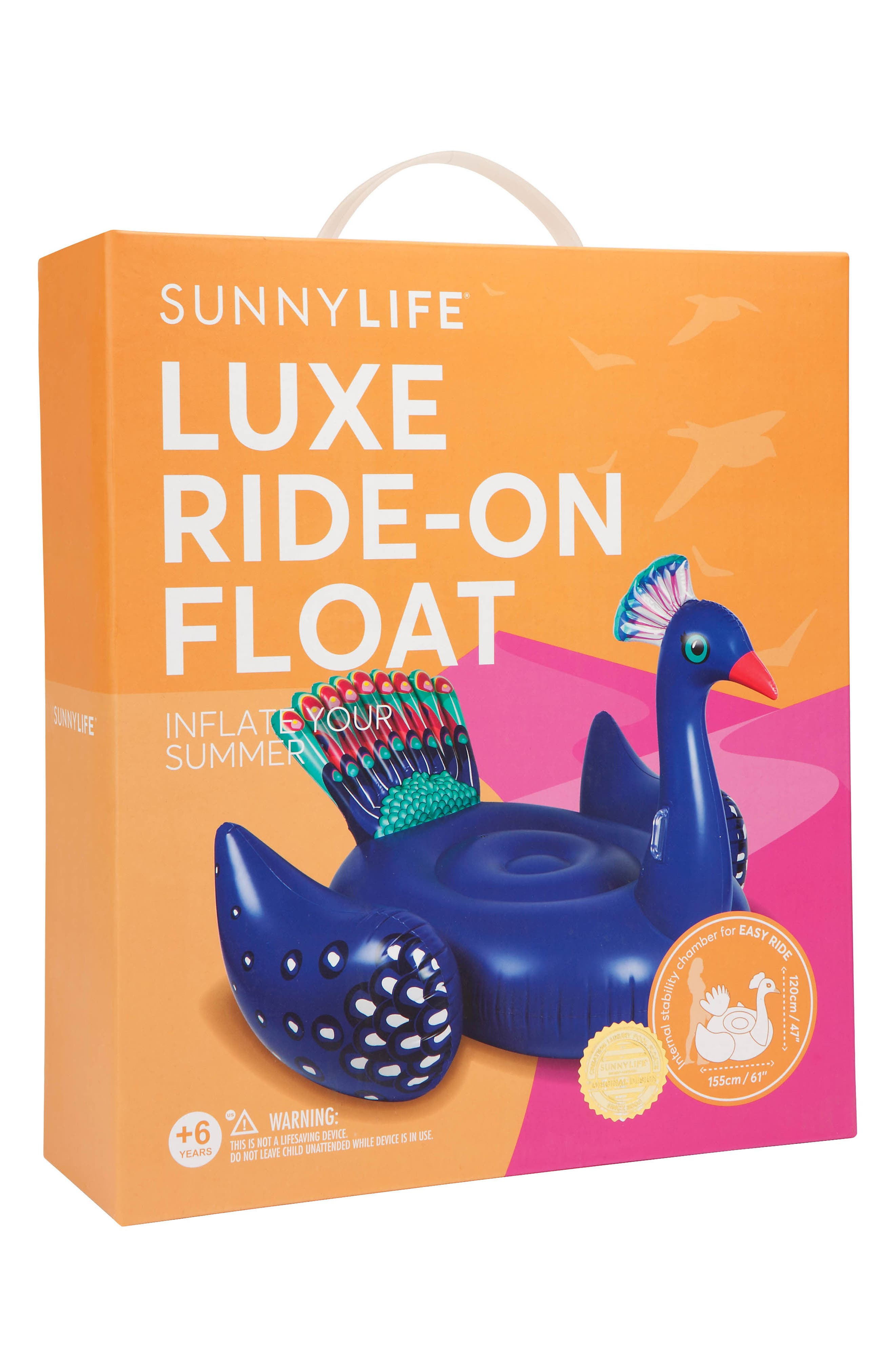Alternate Image 3  - Sunnylife Inflatable Peacock Pool Float