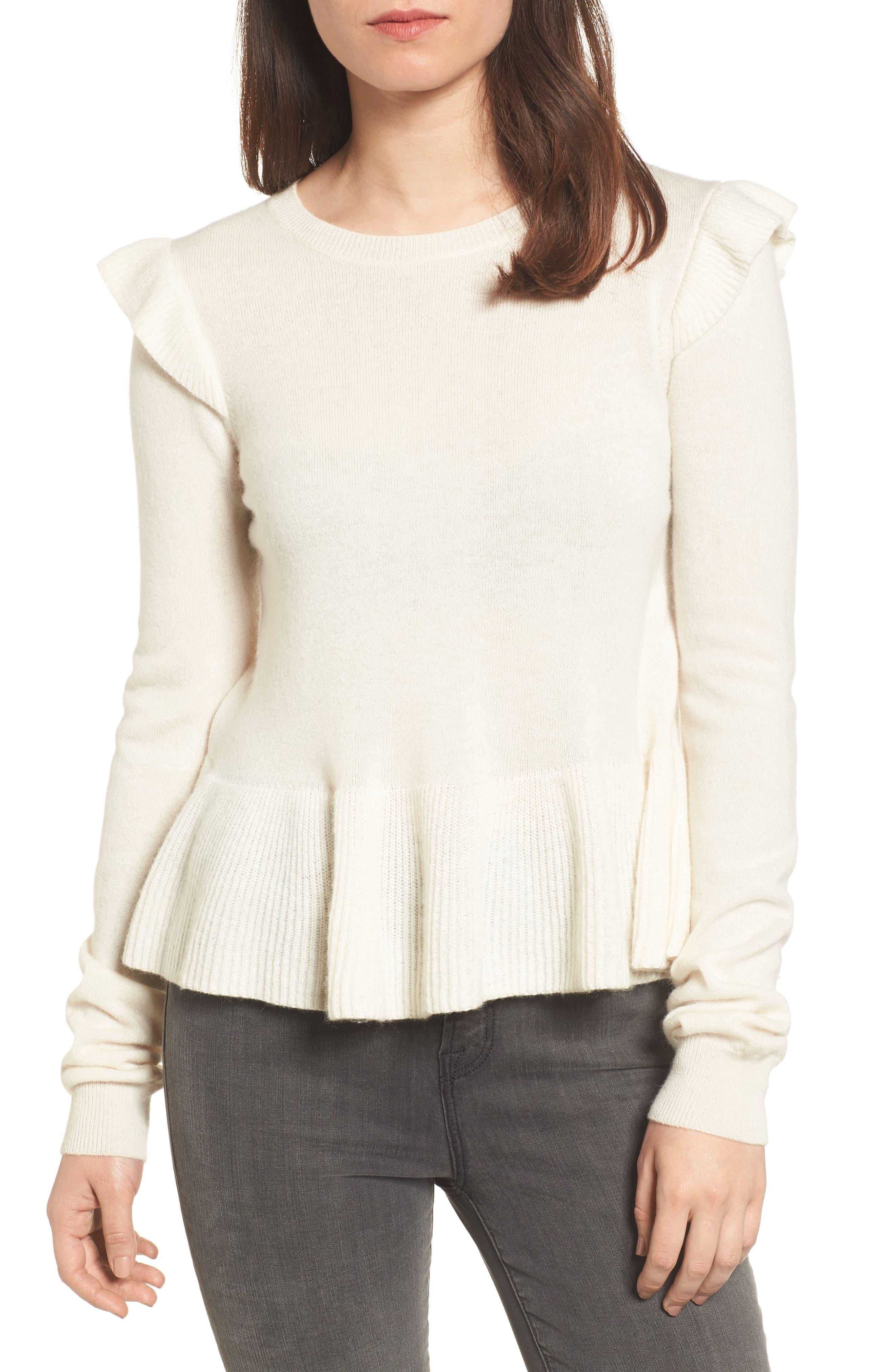 Main Image - Rebecca Minkoff Regina Ruffle Wool & Cashmere Sweater