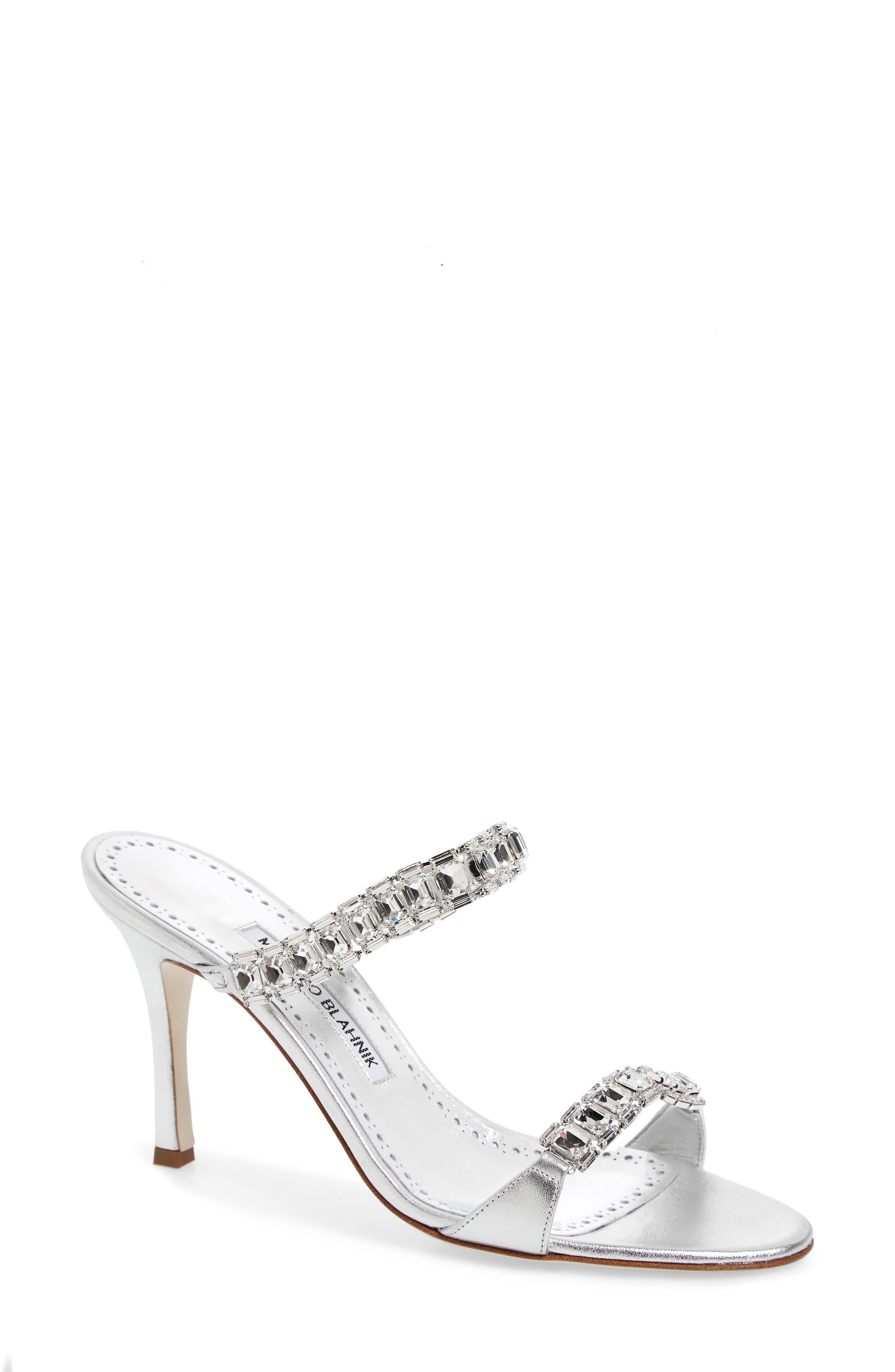Dallifac Embellished Sandal,                             Main thumbnail 1, color,                             Silver