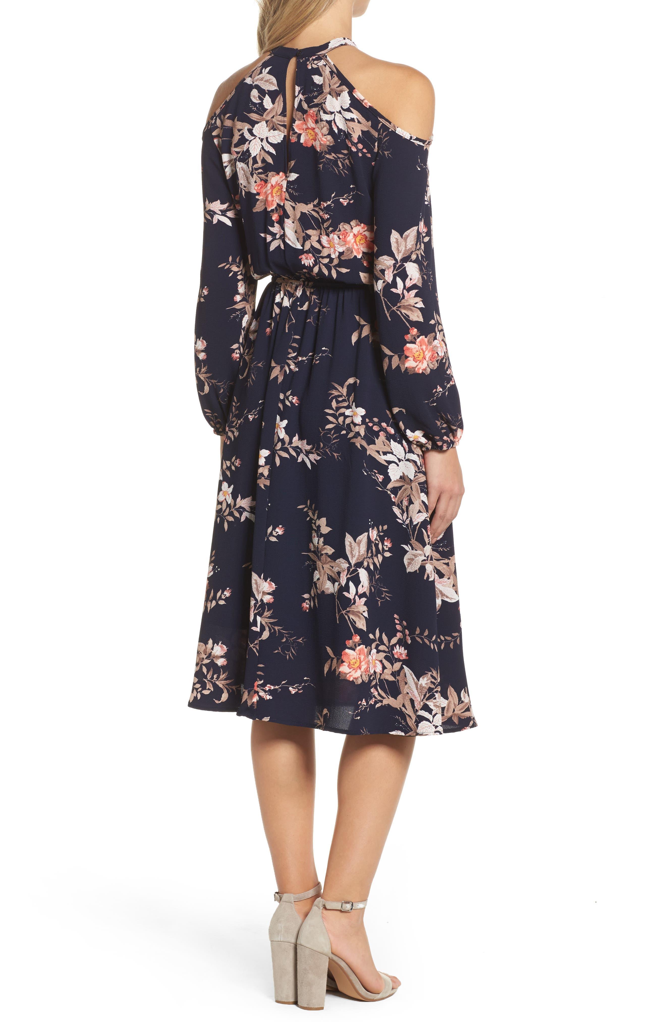 Alternate Image 4  - Fraiche by J Cold Shoulder Midi Dress