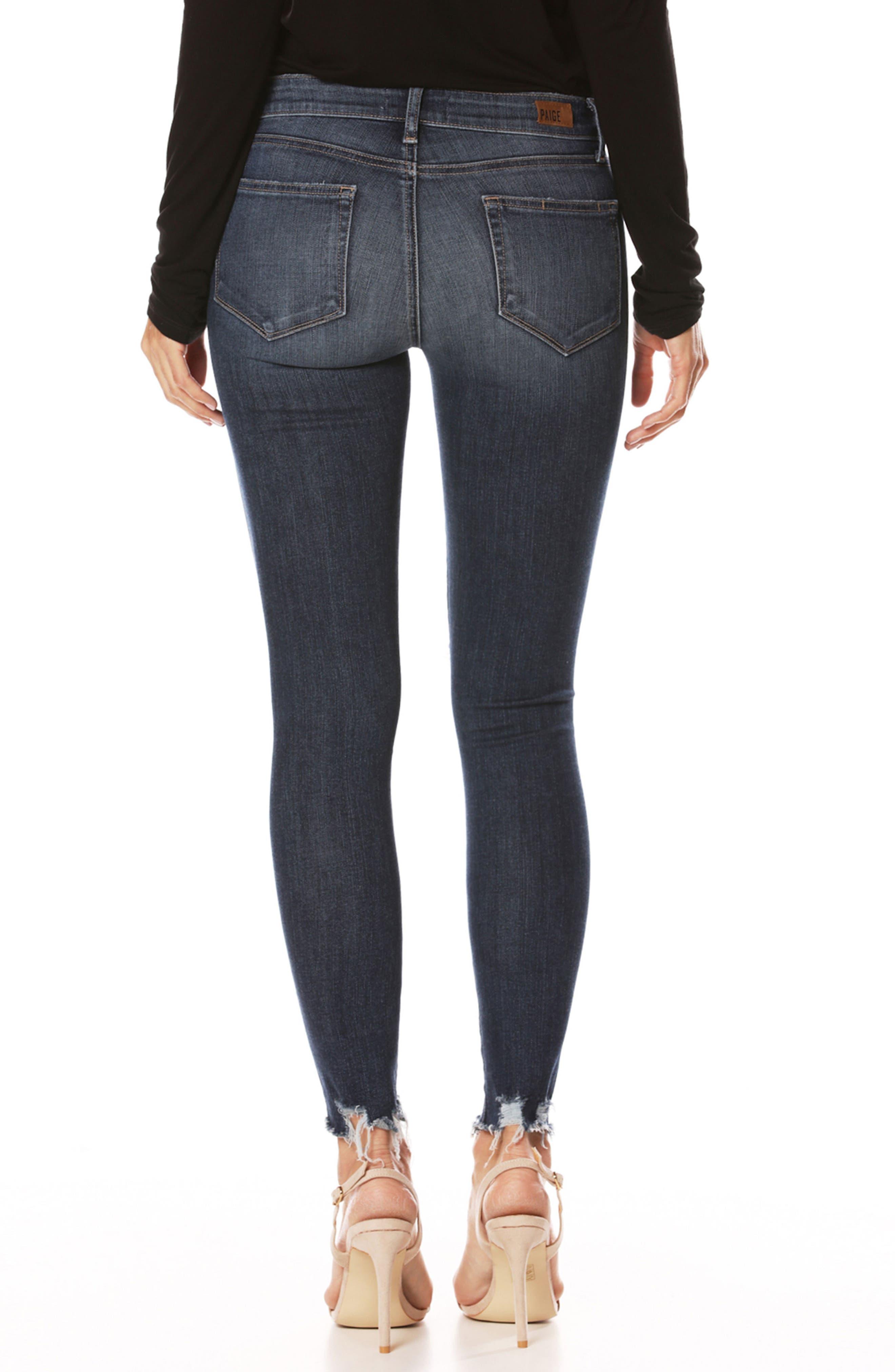 Alternate Image 2  - PAIGE Transcend Vintage - Verdugo Ankle Skinny Jeans (Danton Destructed)