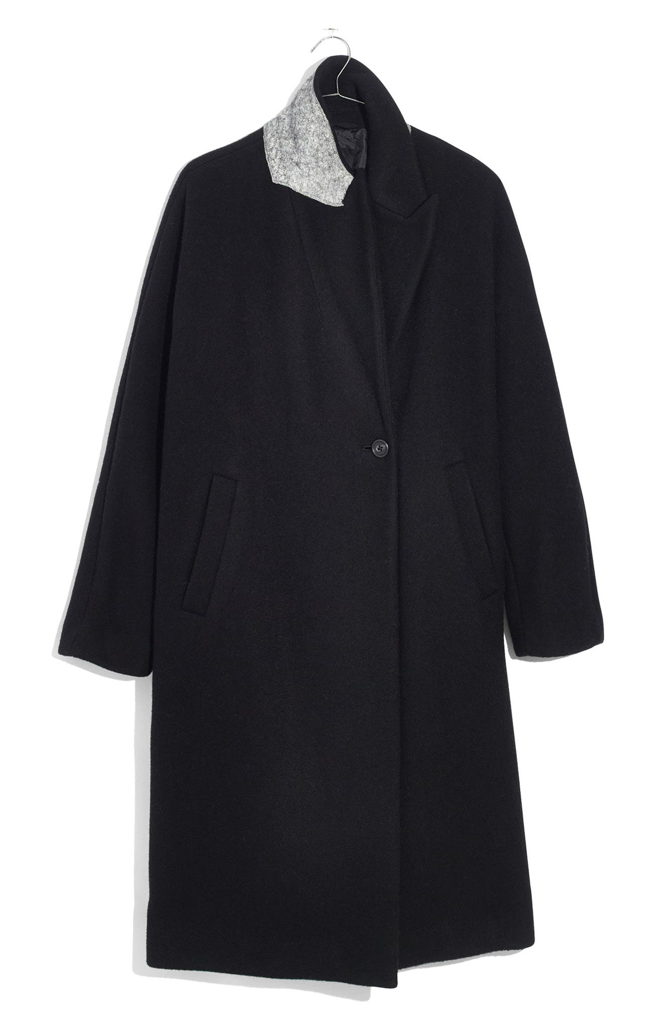 Atlas Cocoon Coat,                             Alternate thumbnail 4, color,                             True Black