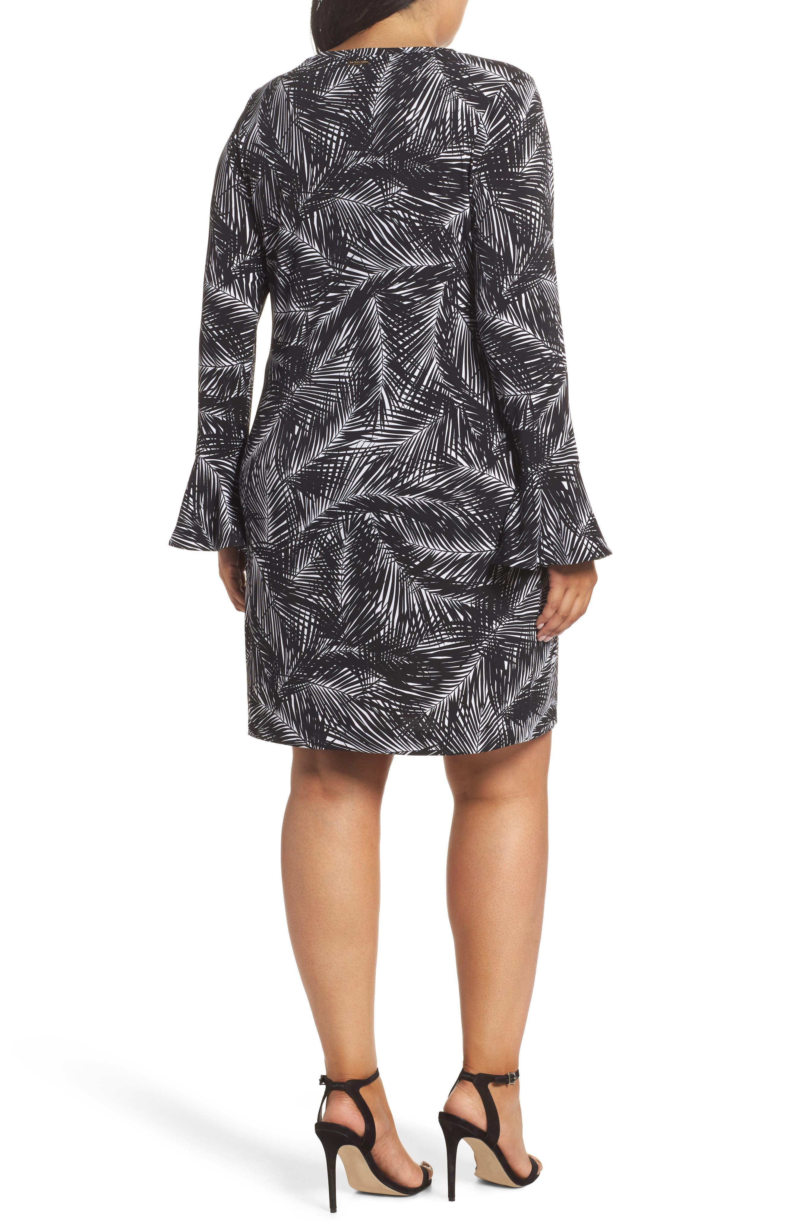 Alternate Image 2  - MICHAEL Michael Kors Abstract Palm Dress (Plus Size)
