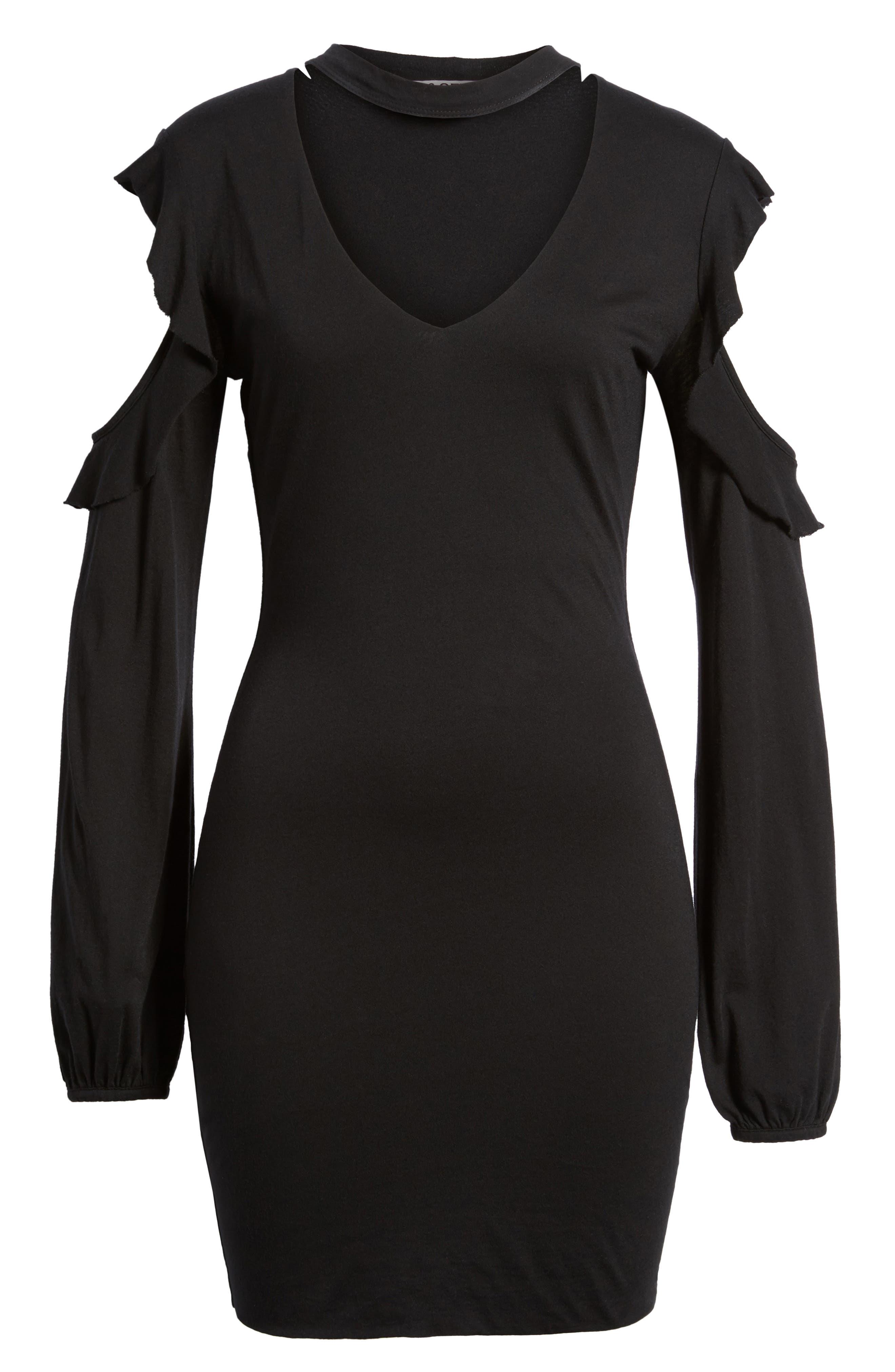 Alternate Image 6  - Pam & Gela Cold Shoulder Sheath Dress