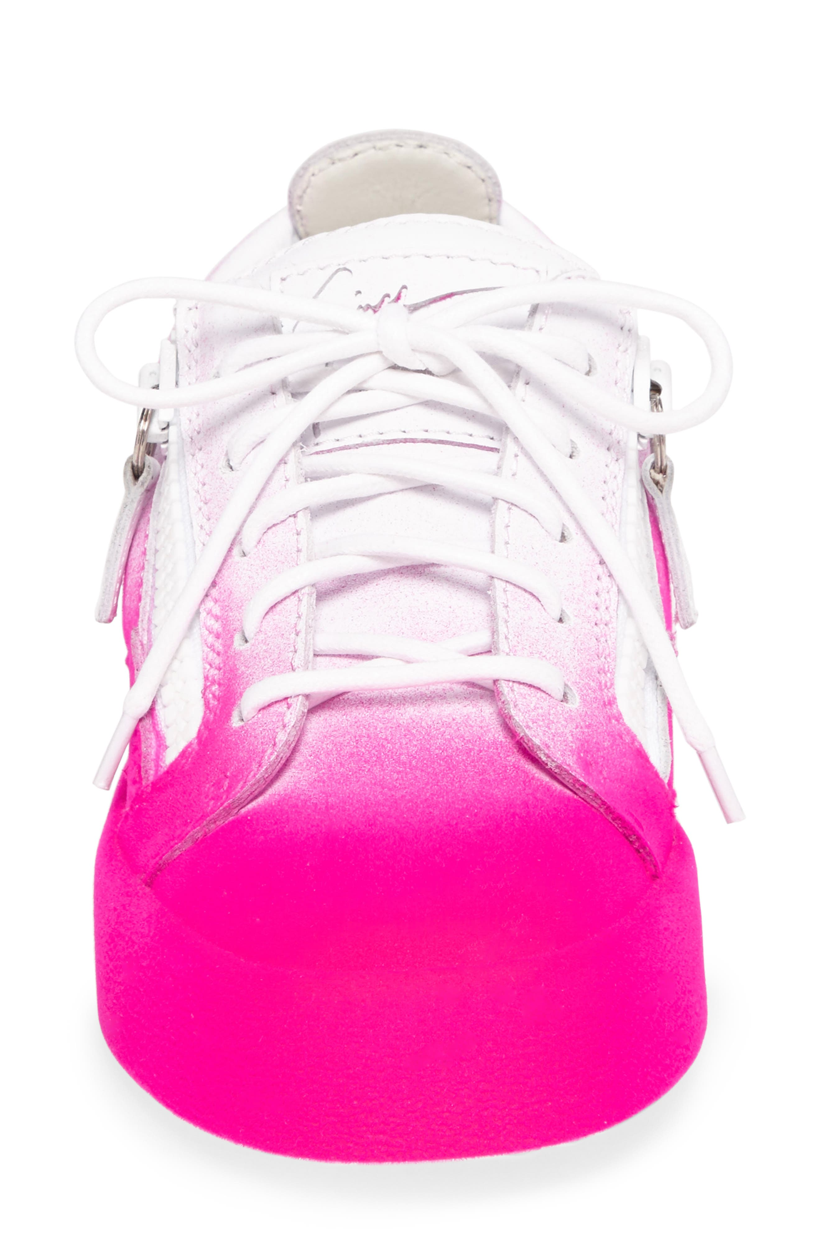 May London Low Top Sneaker,                             Alternate thumbnail 4, color,                             White/ Pink