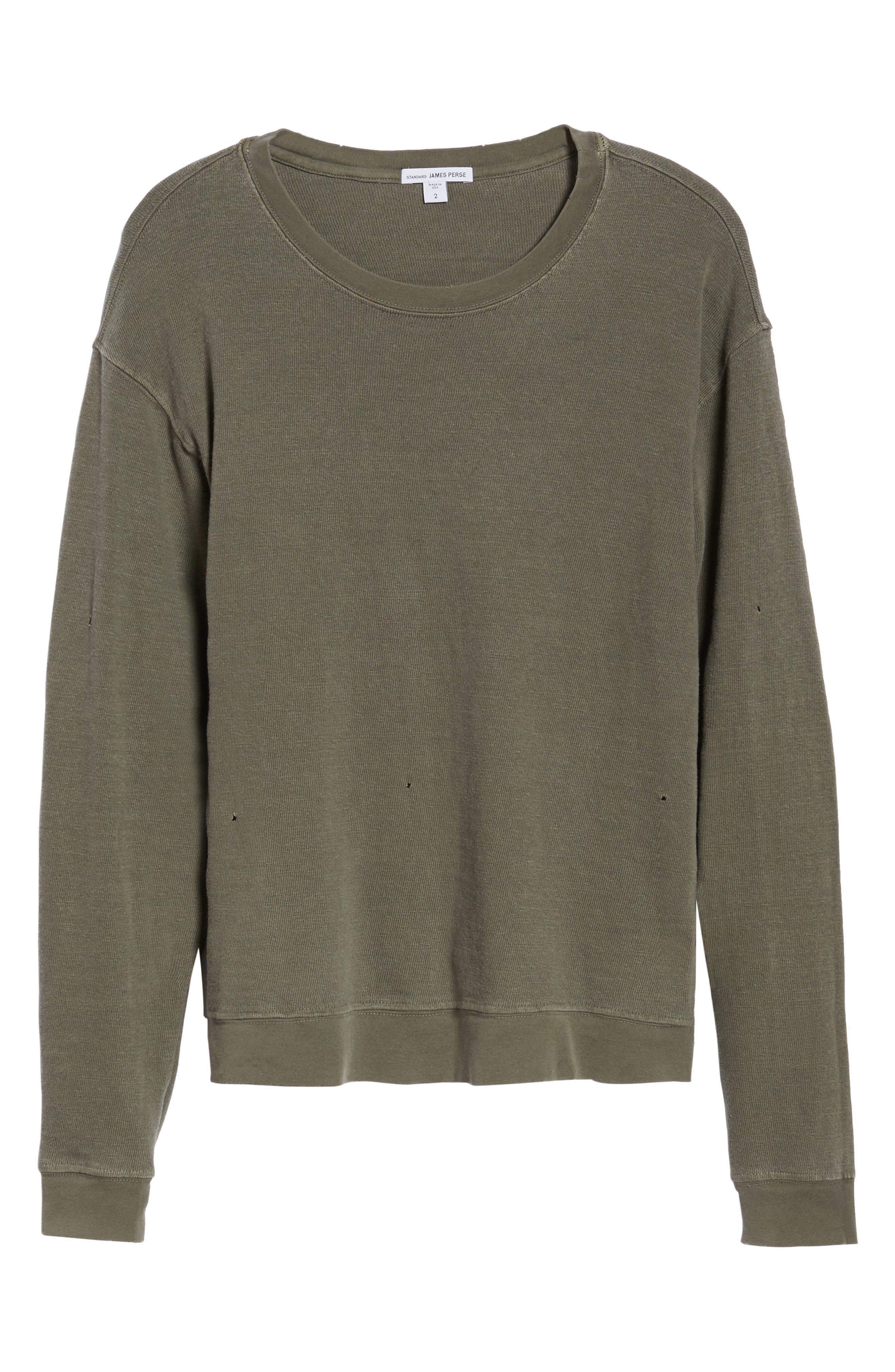 Alternate Image 6  - James Perse Distressed Sweatshirt