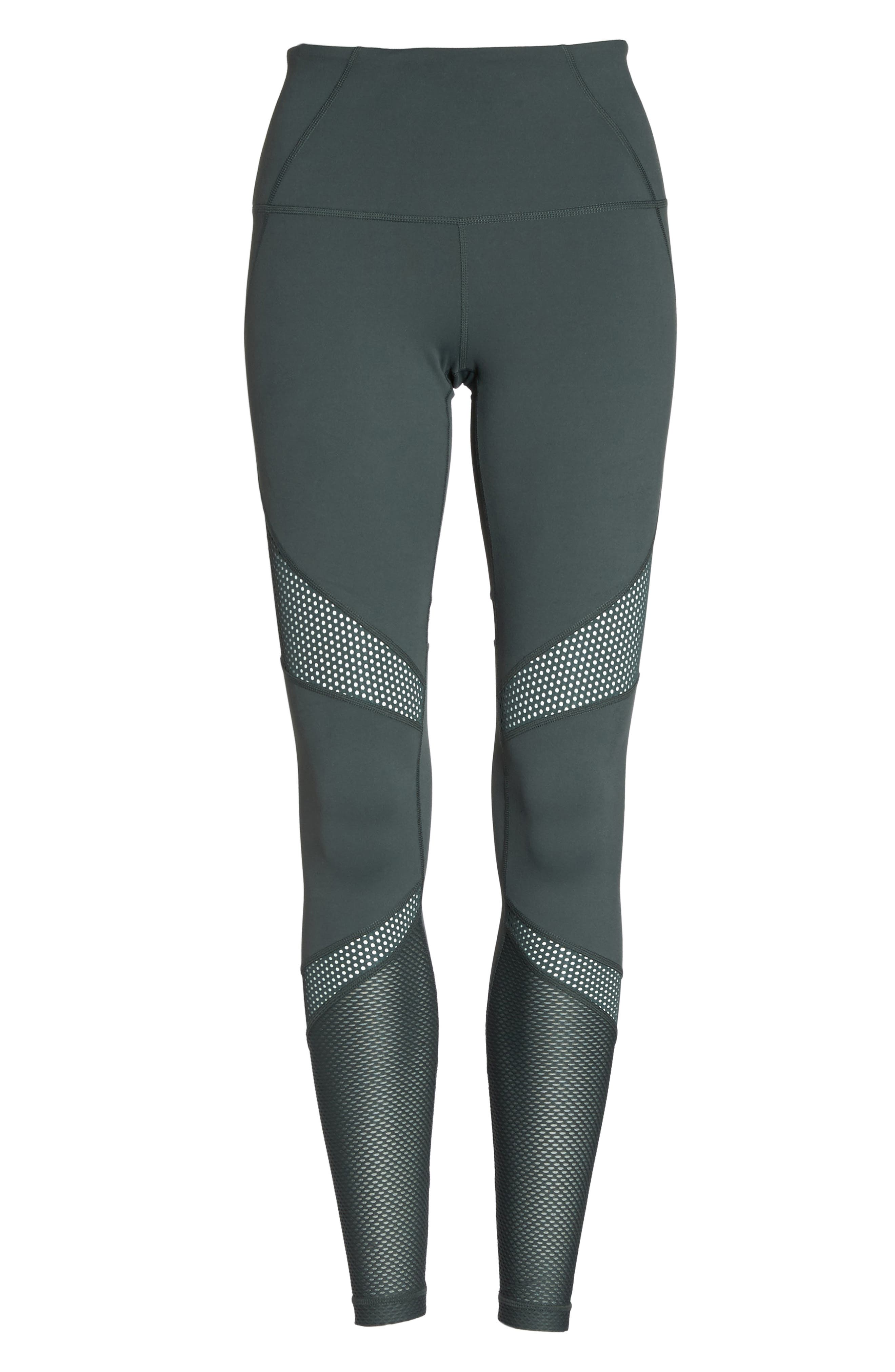 Out of Bounds High Waist Leggings,                             Alternate thumbnail 7, color,                             Grey Urban