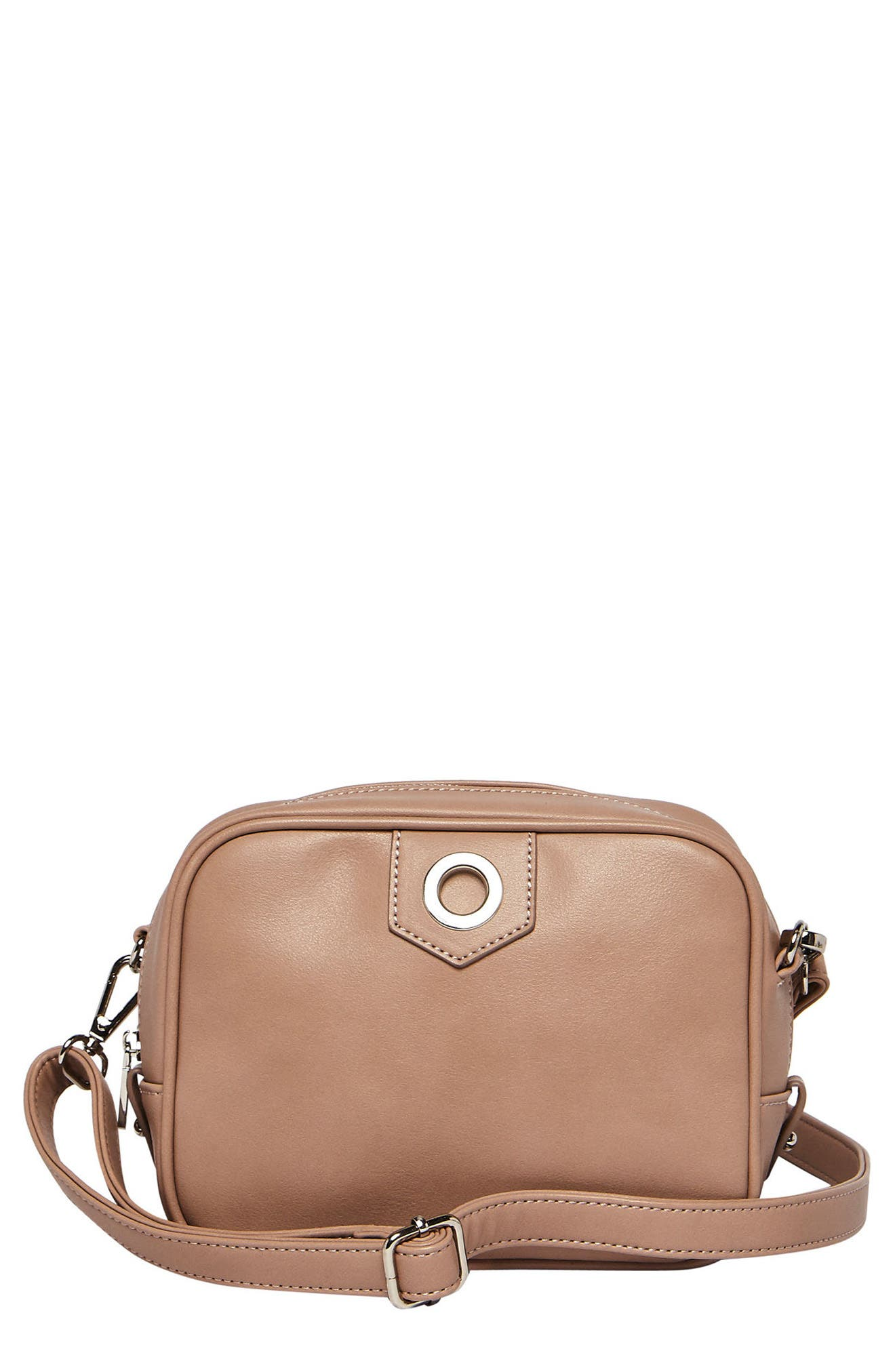 Dakota Vegan Leather Crossbody Bag,                             Main thumbnail 1, color,                             Nude