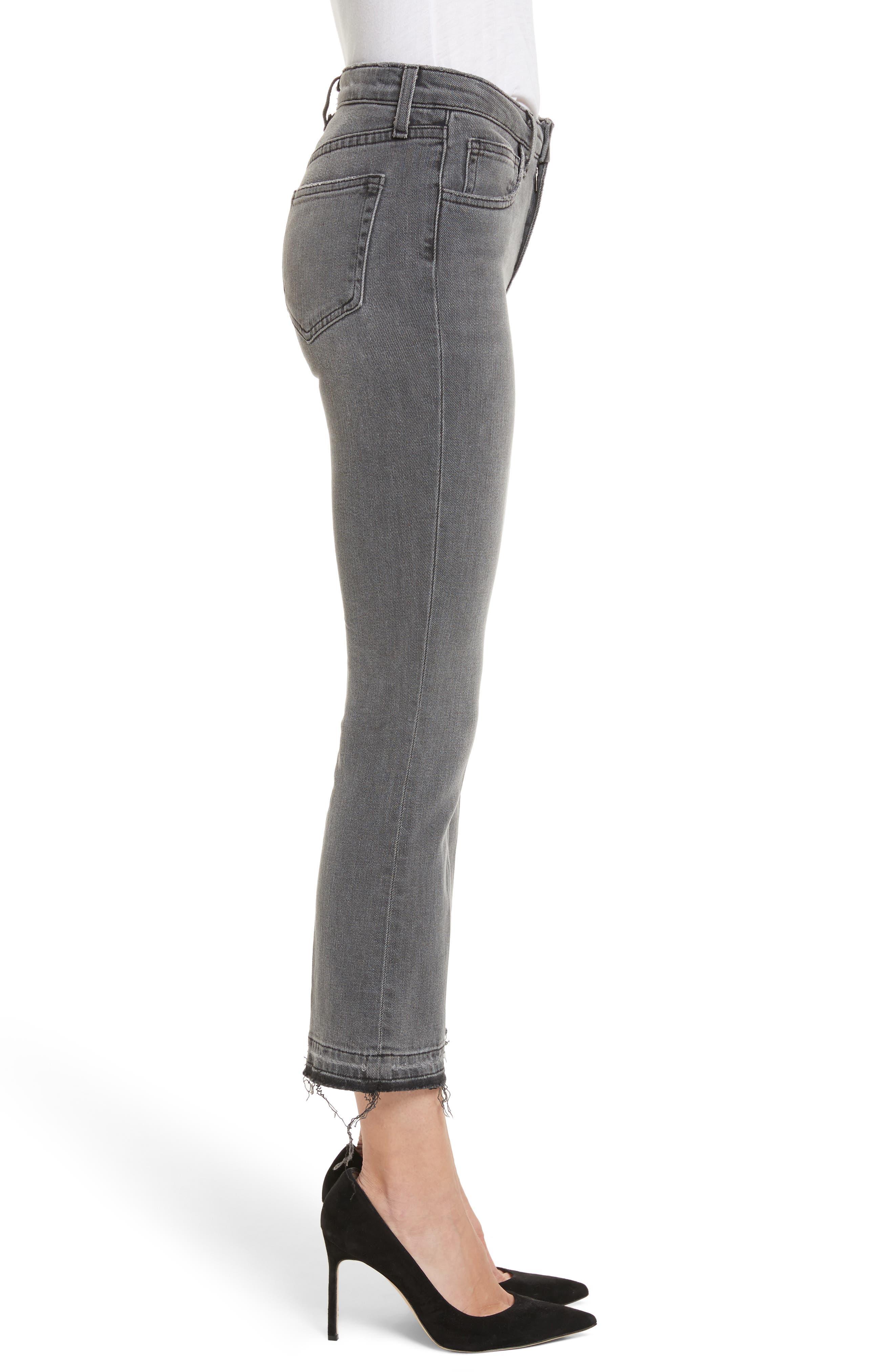 Serena High Waist Crop Flare Jeans,                             Alternate thumbnail 3, color,                             Vintage Grey
