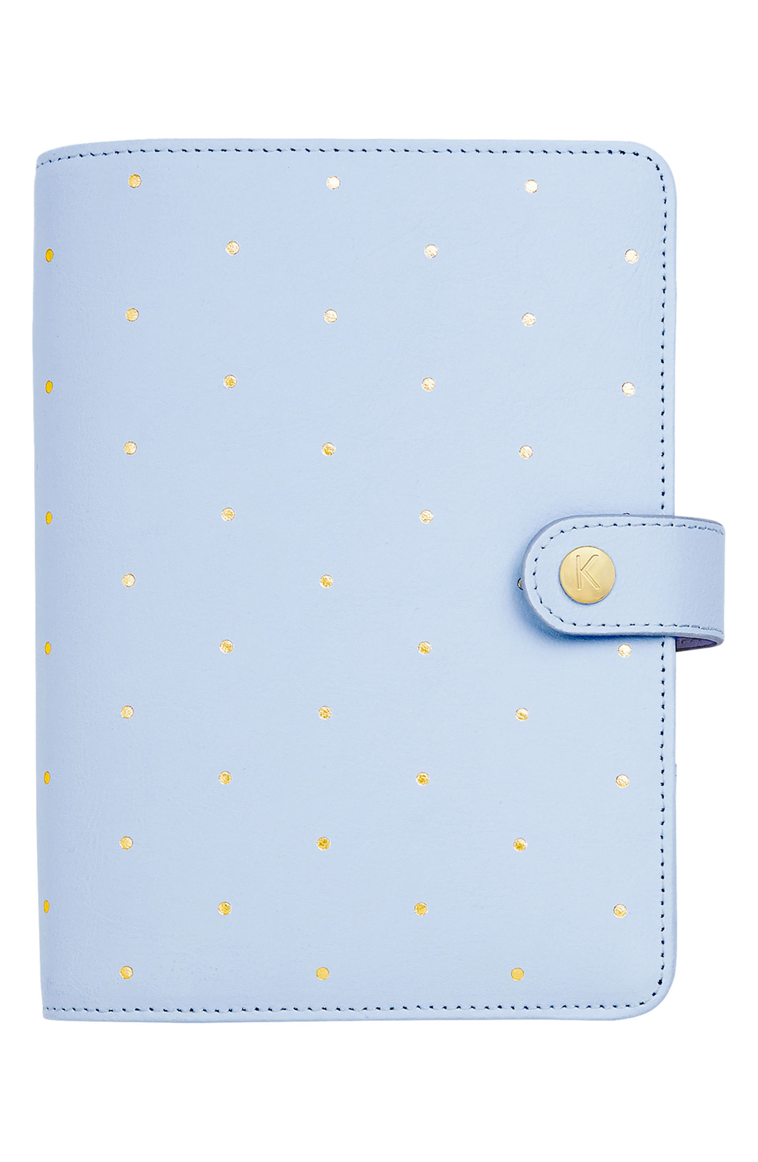 Medium Leather Personal Planner,                         Main,                         color, Soft Blue
