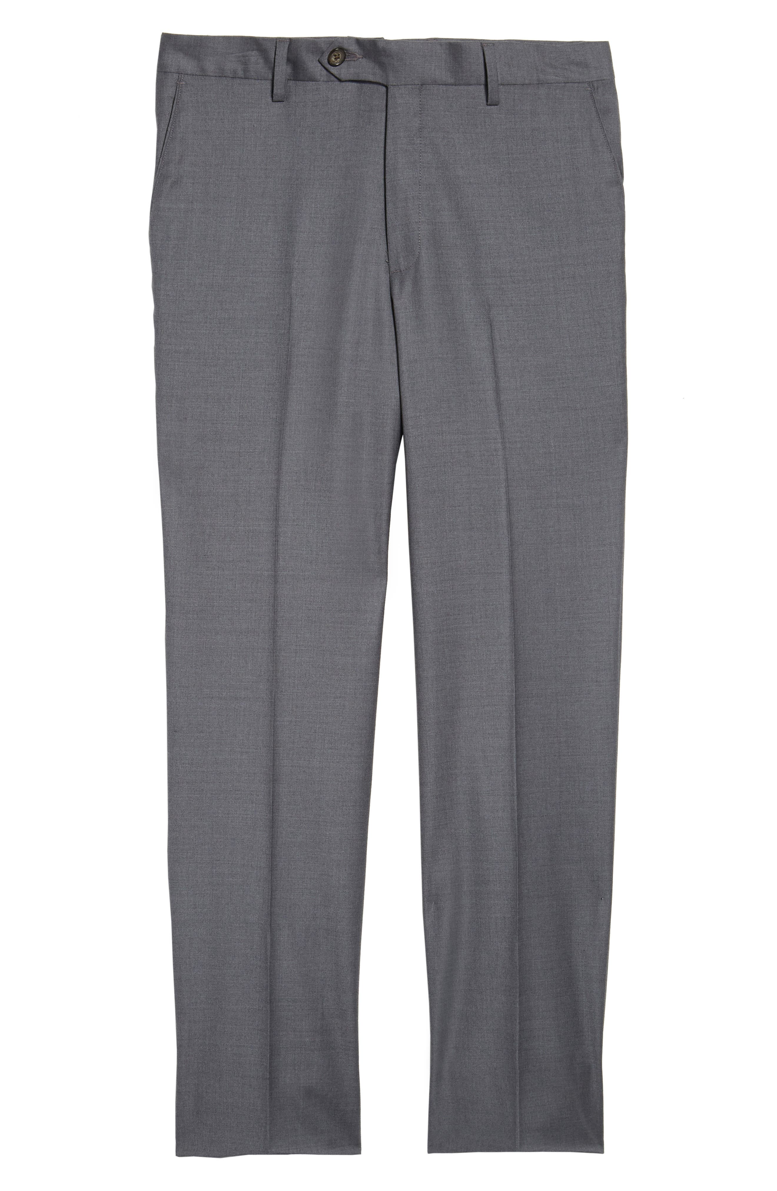 Alternate Image 6  - Berle Flat Front Stretch Solid Wool Trousers