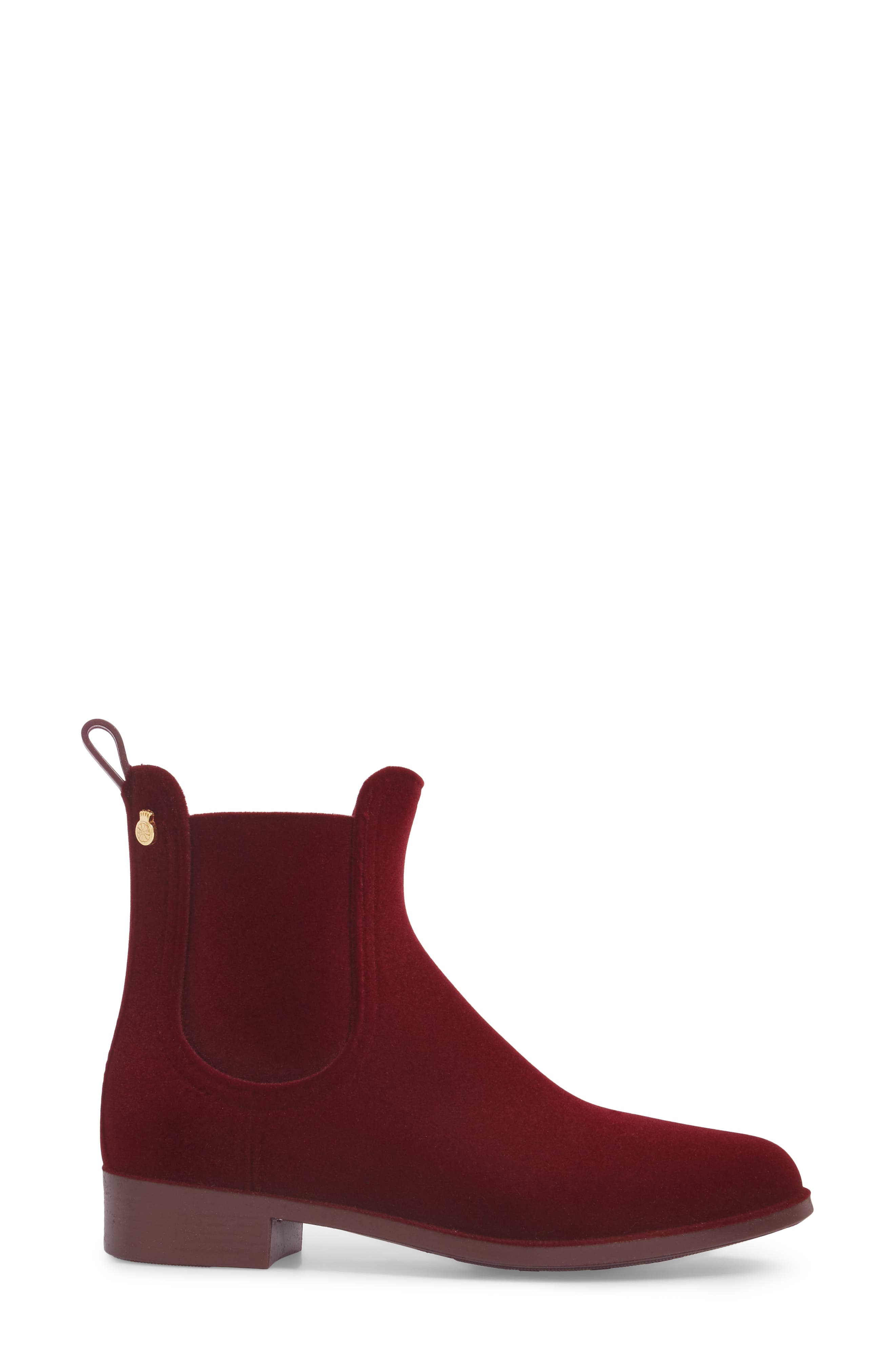 Alternate Image 3  - Lemon Jelly Velvety Waterproof Chelsea Bootie (Women)