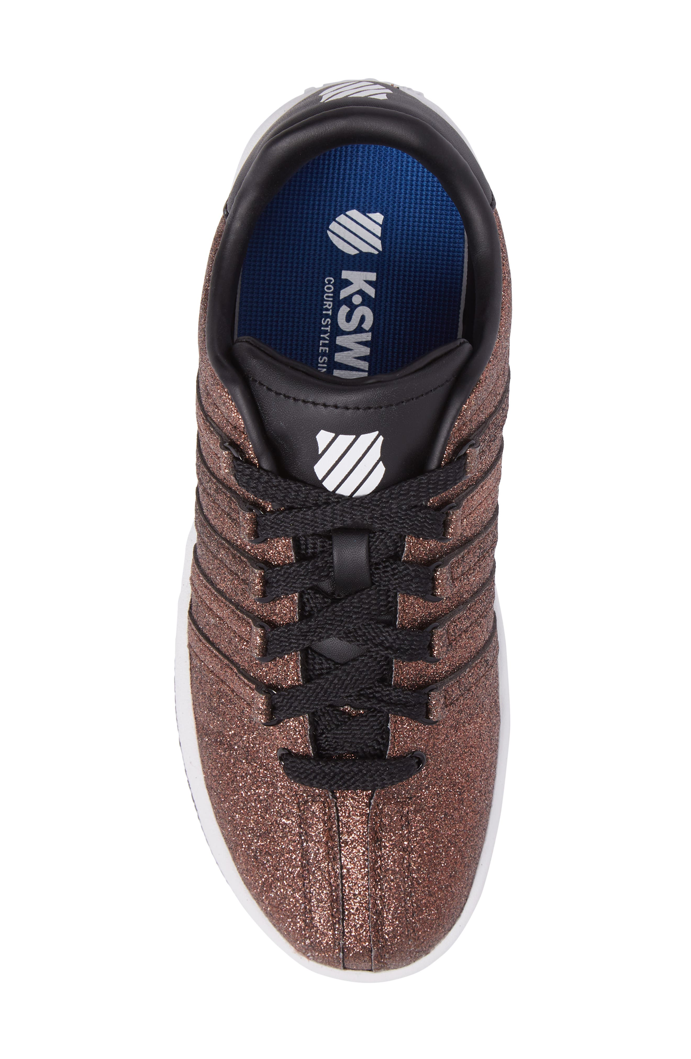 Alternate Image 5  - K-Swiss Classic VN Sparkle Low Top Sneaker (Baby, Walker, Toddler, Little Kid & Big Kid)