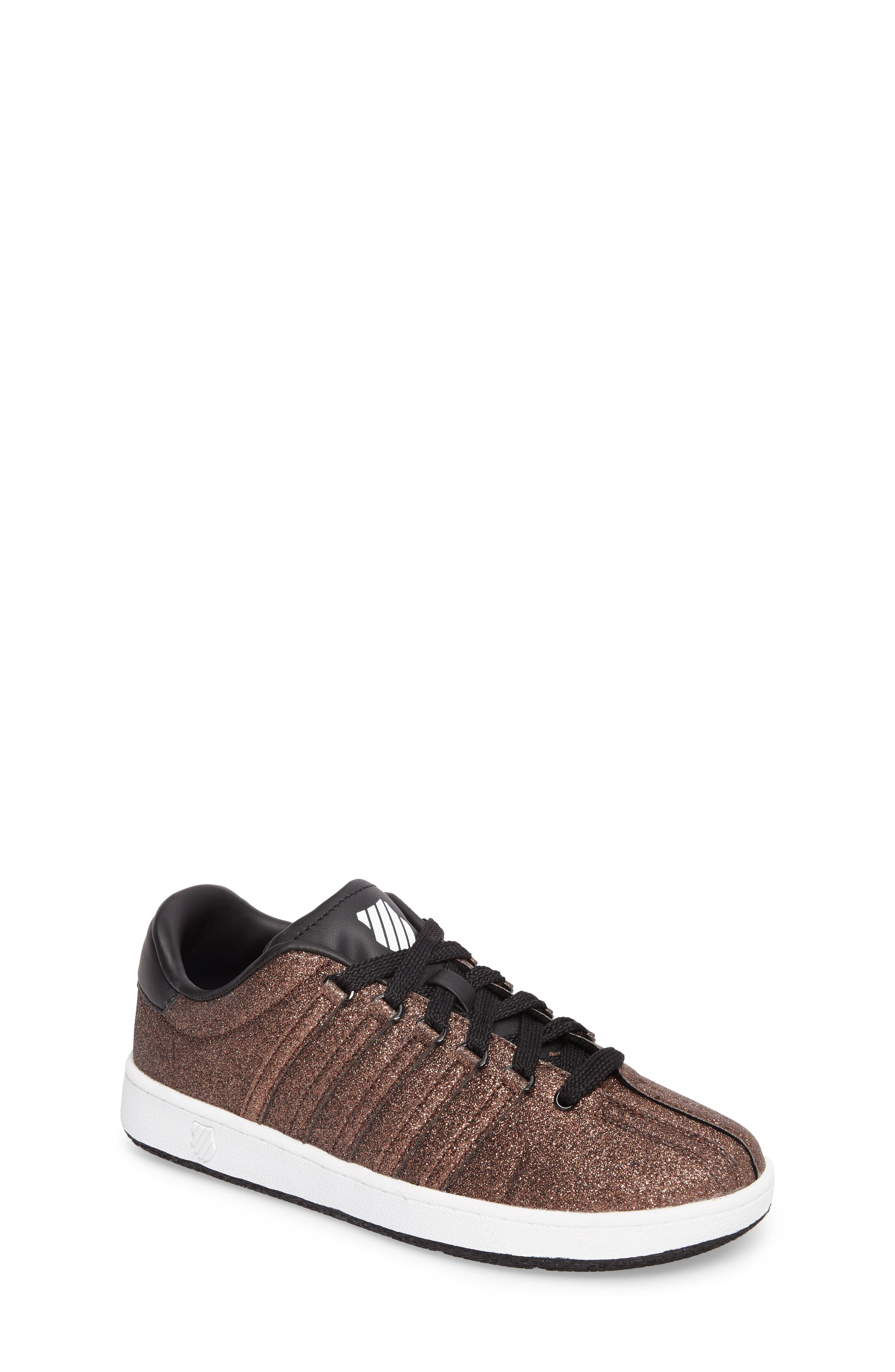 K-Swiss Classic VN Sparkle Low Top Sneaker (Baby, Walker, Toddler, Little Kid & Big Kid)