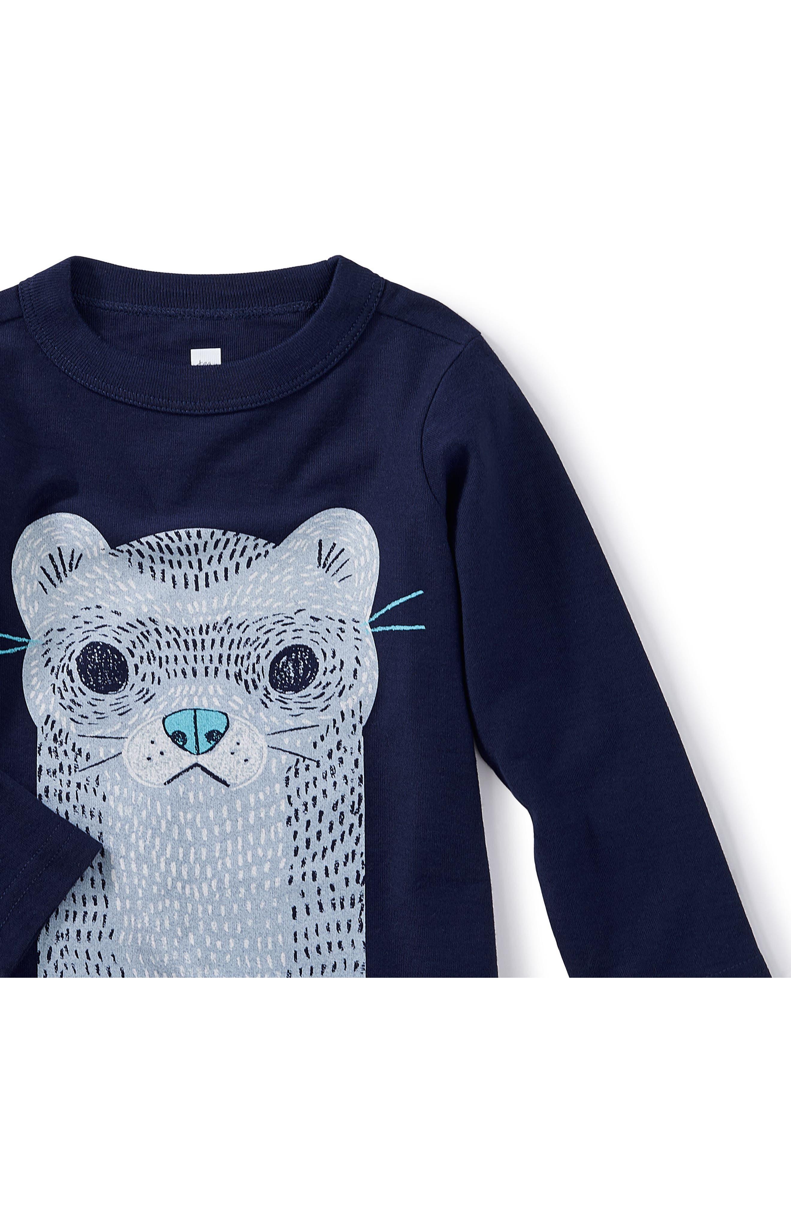 River Otter Graphic T-Shirt,                             Alternate thumbnail 2, color,                             Beluga