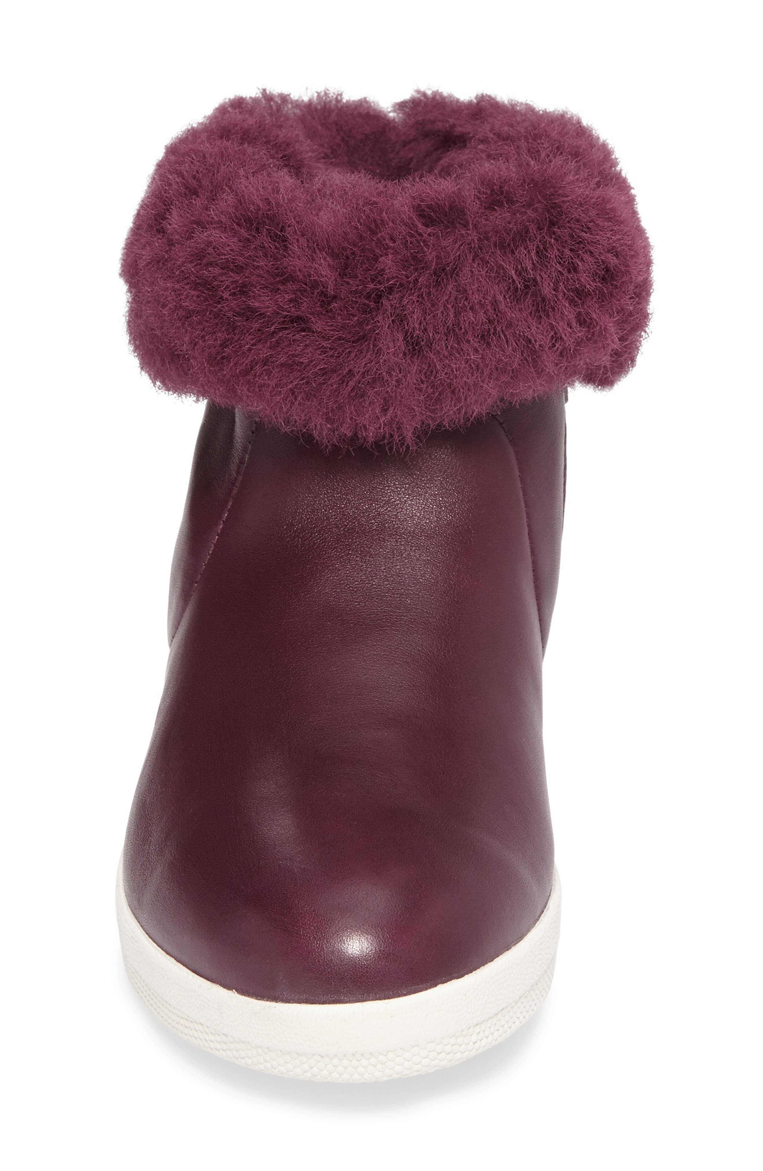 Skatebootie<sup>™</sup> with Genuine Shearling Cuff,                             Alternate thumbnail 4, color,                             Deep Plum