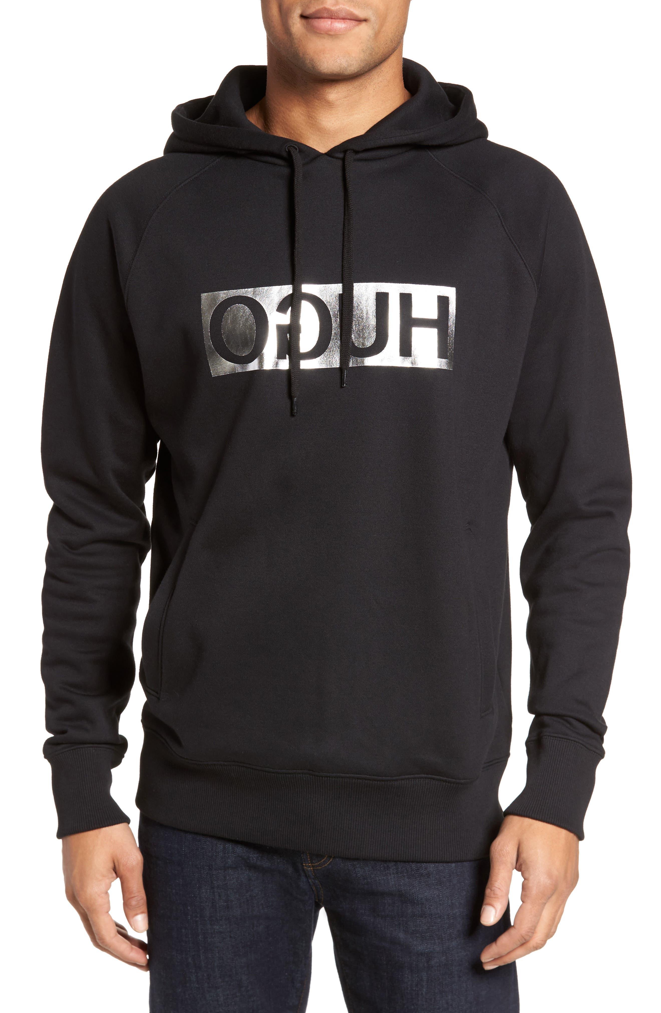 Logo Hoodie,                         Main,                         color, Black
