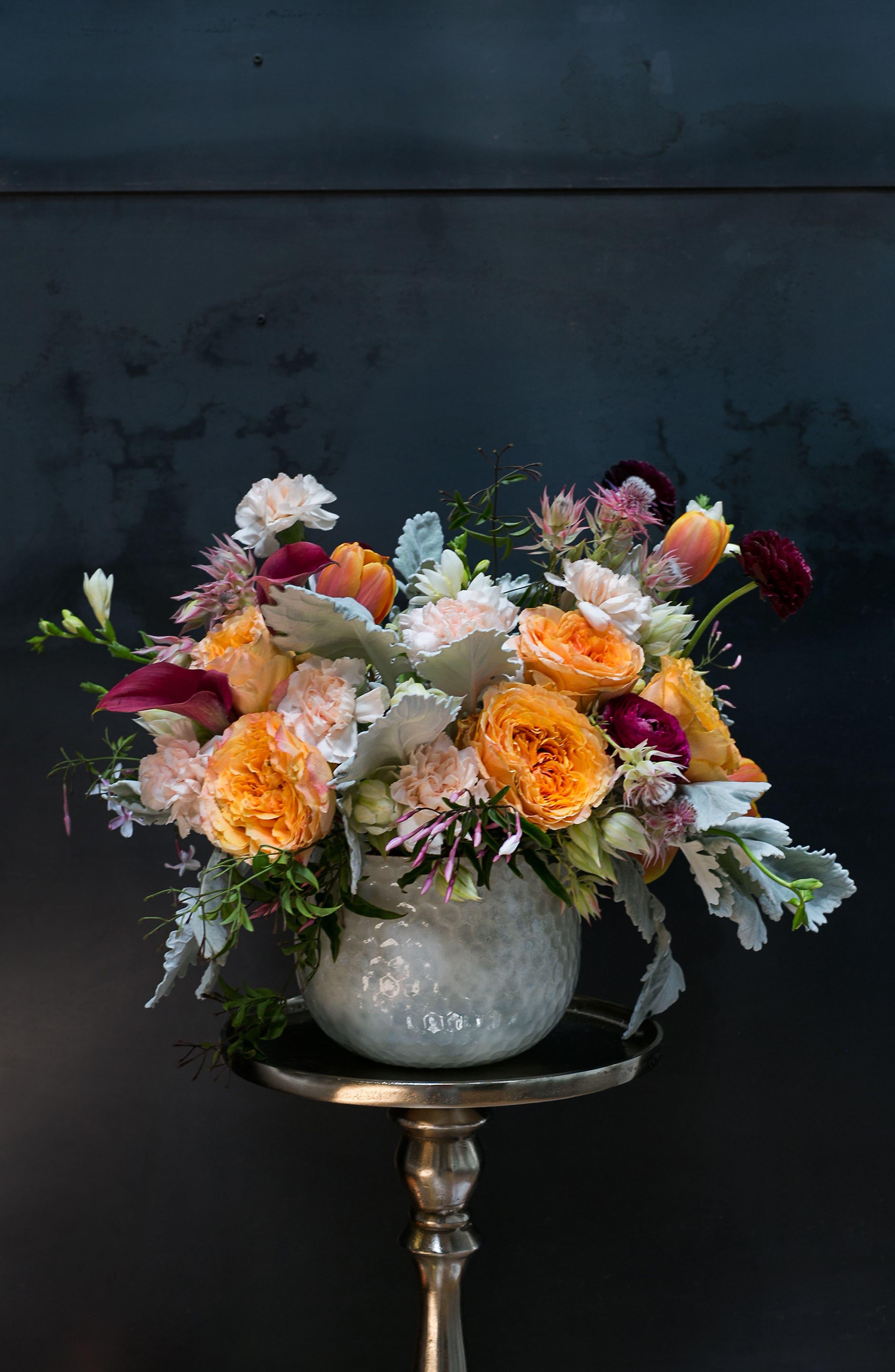 Radiant Mercury Glass Vase,                             Alternate thumbnail 2, color,                             White