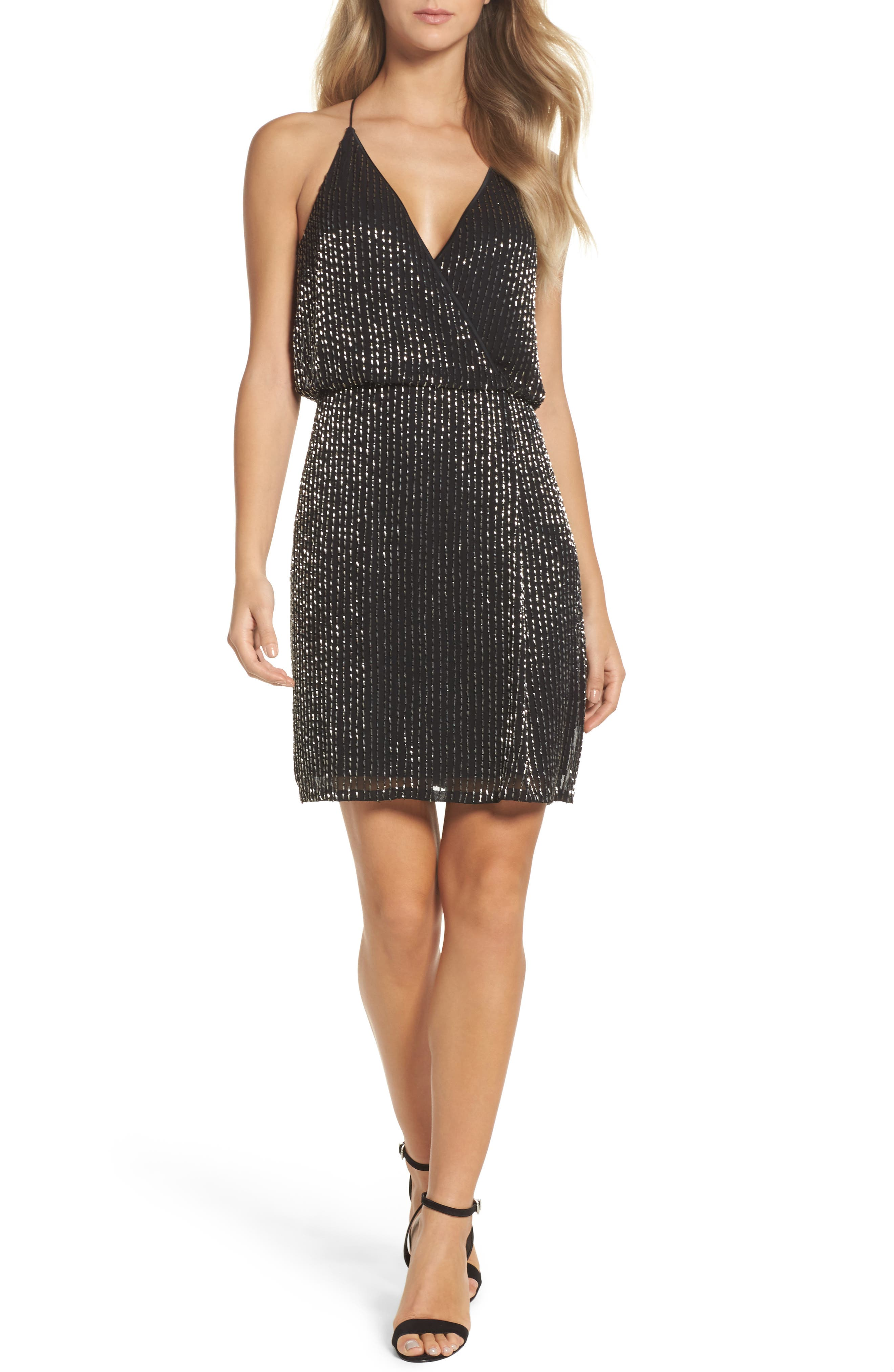Main Image - French Connection Enid Shimmer Minidress