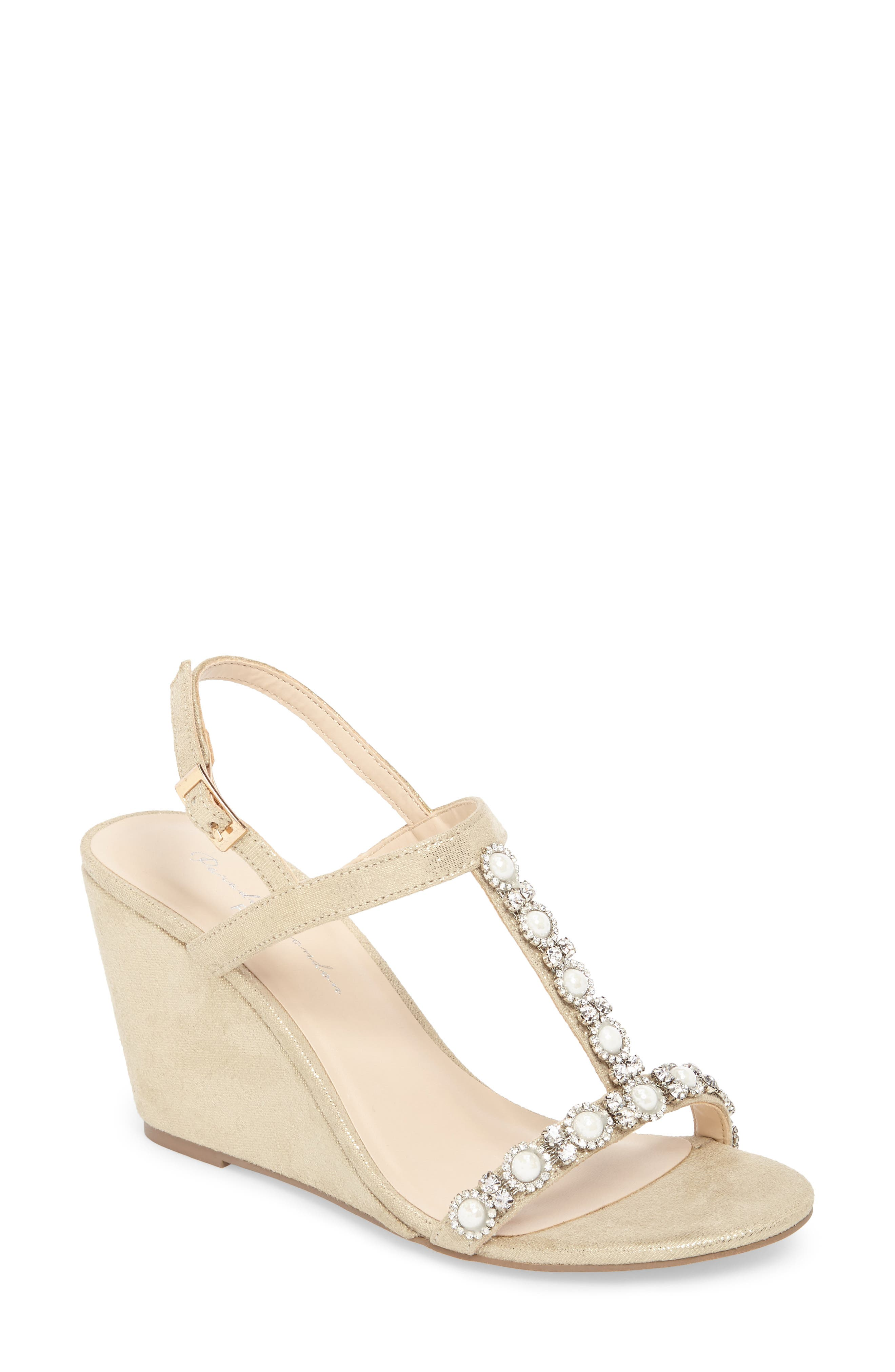 pink paradox london Kiana Embellished Wedge Sandal (Women)