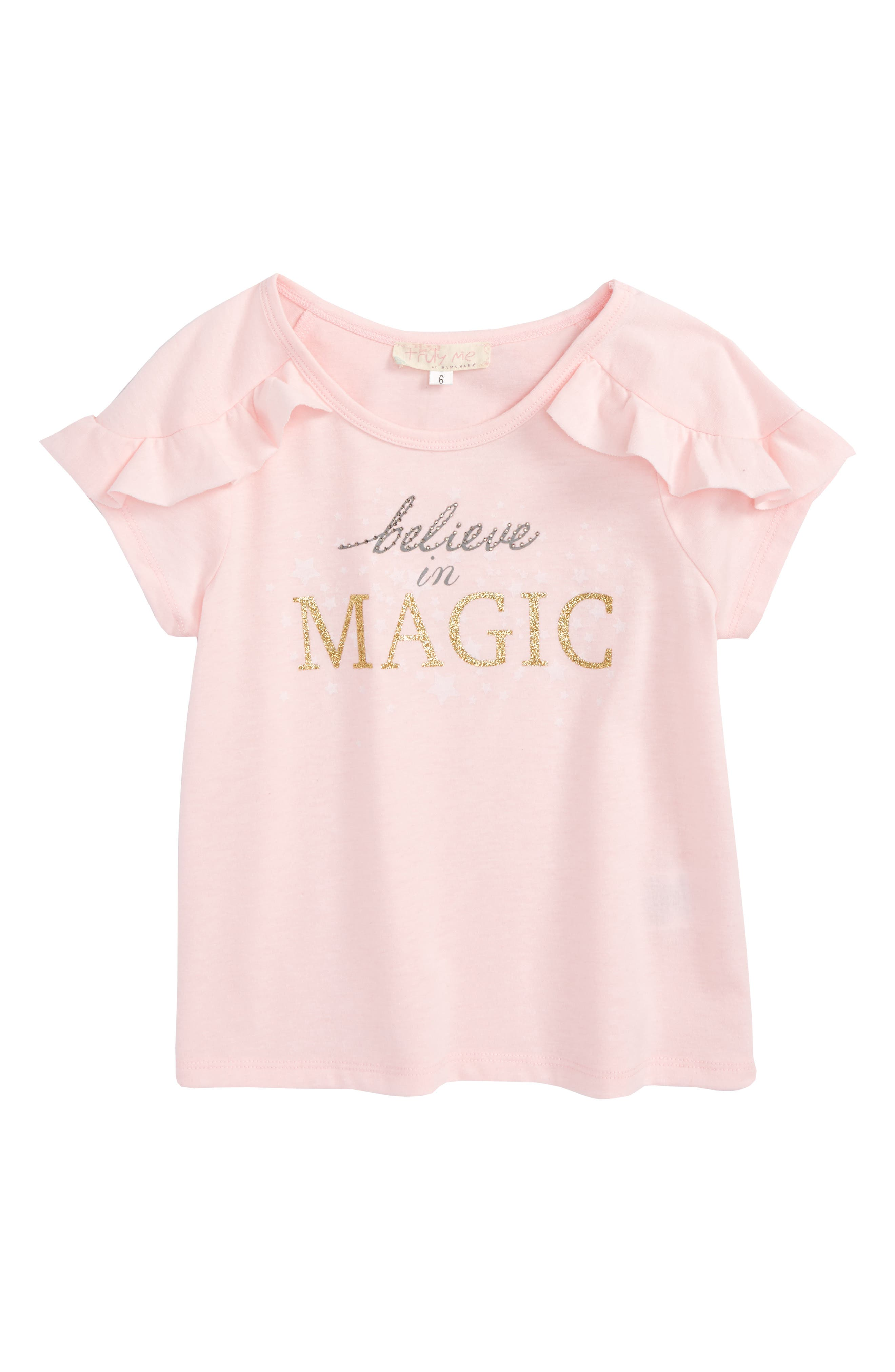 Believe In Magic Graphic Tee,                             Main thumbnail 1, color,                             White