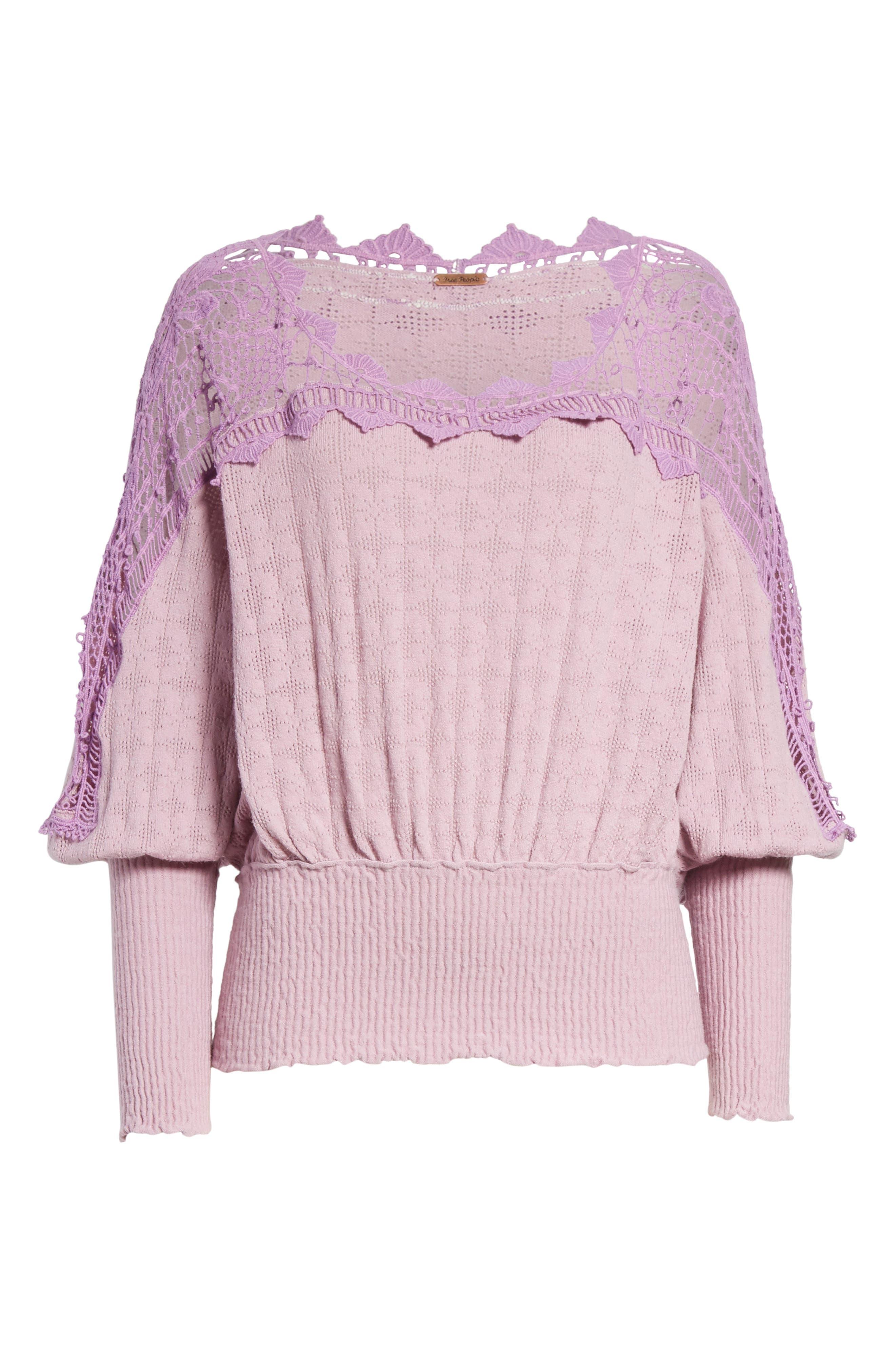 Alternate Image 7  - Free People Love Lace Sweater