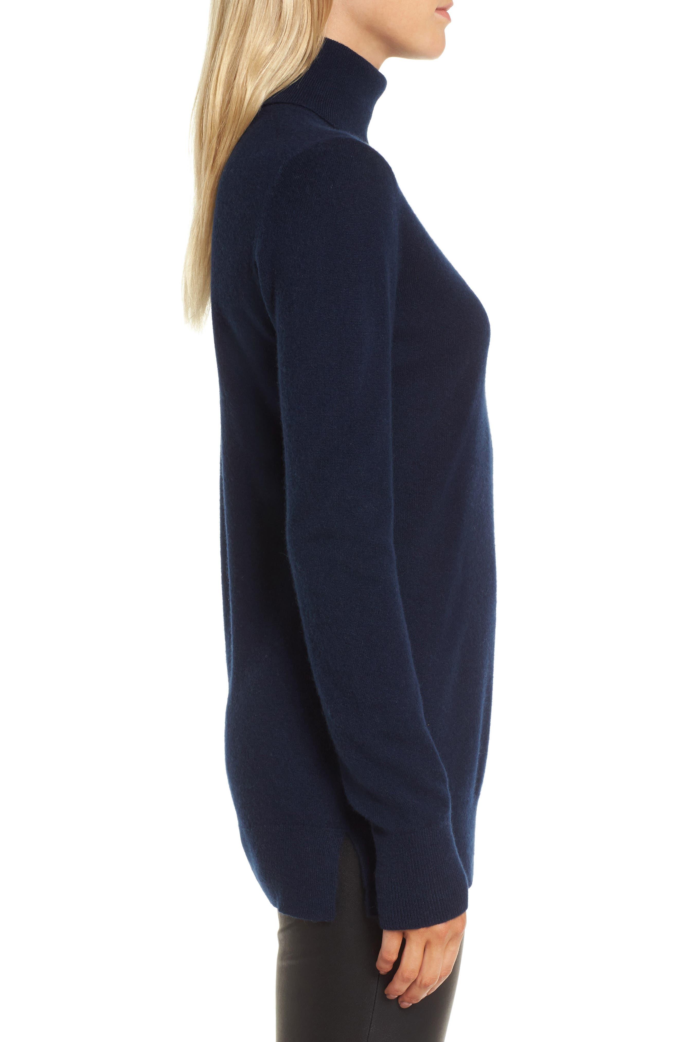 Alternate Image 3  - Nordstrom Signature Turtleneck Cashmere Sweater