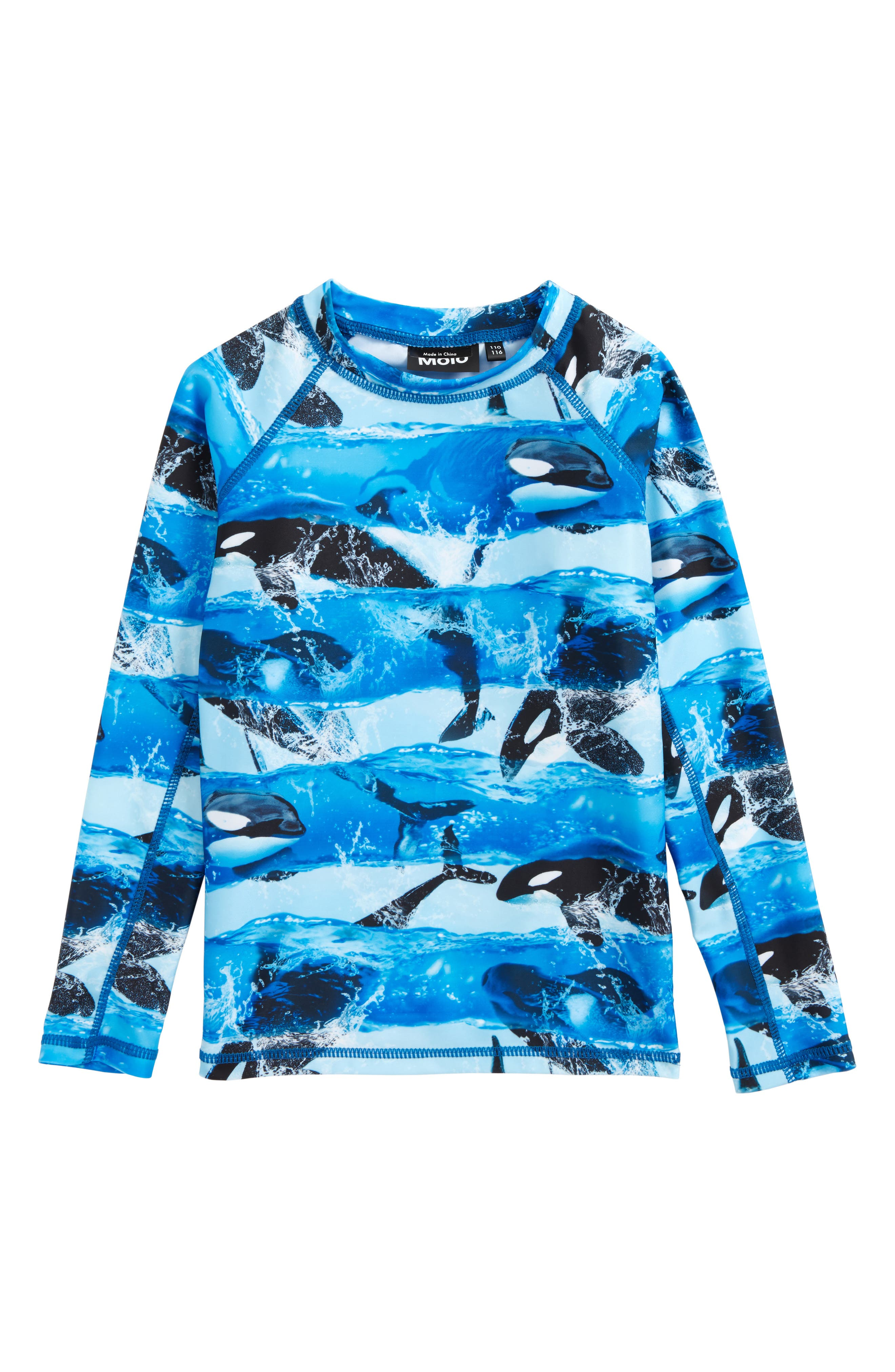 Neptune Long Sleeve Rashguard,                         Main,                         color, Killer Whale