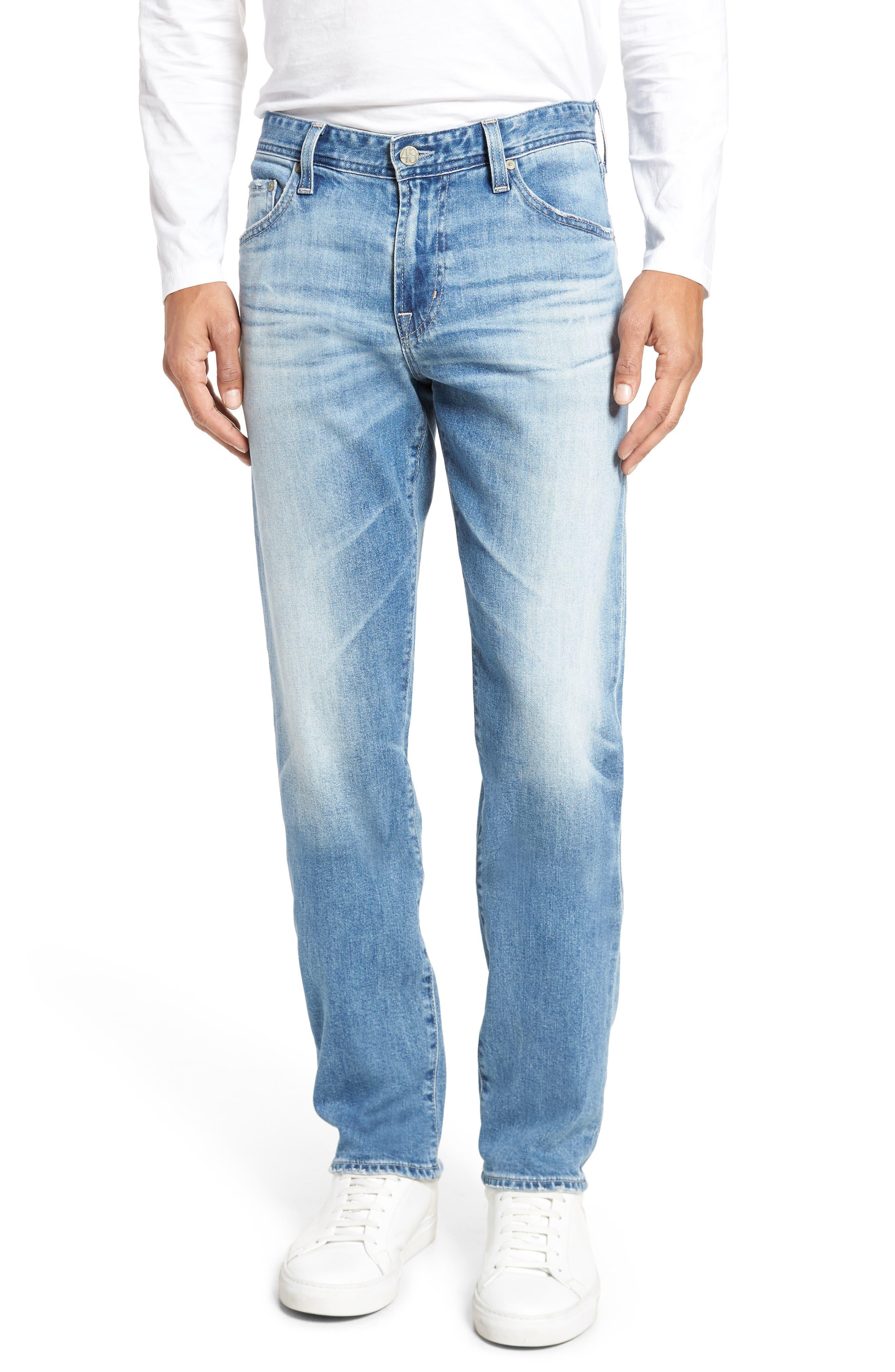 Main Image - AG Graduate Slim Straight Leg Jeans (16 Years Pluma)