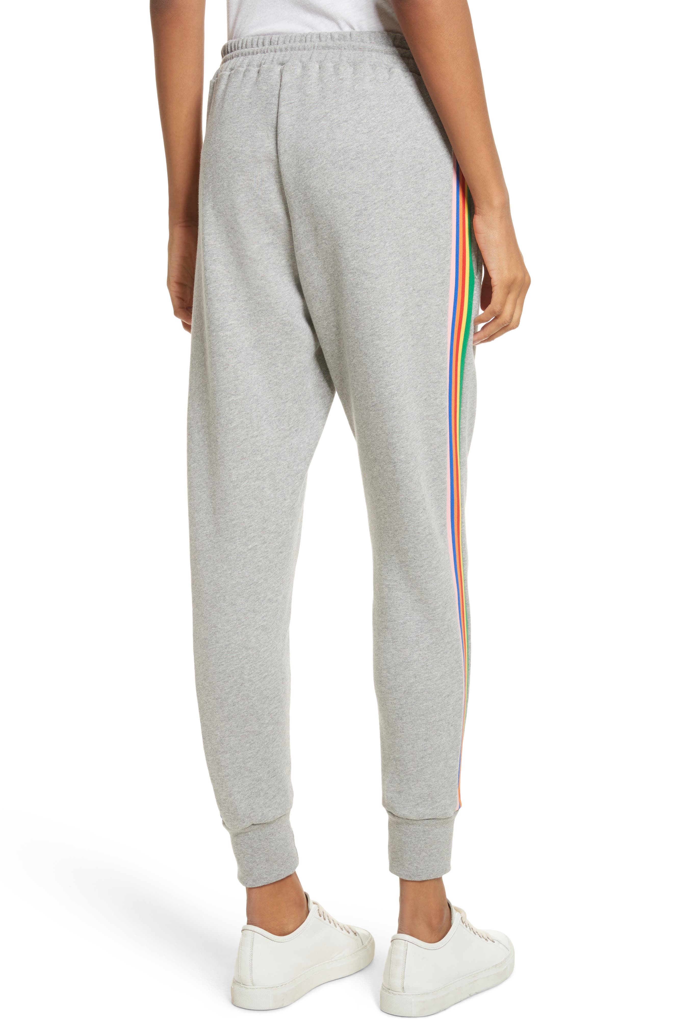 Alternate Image 3  - être cécile Rainbow Stripe Track Pants
