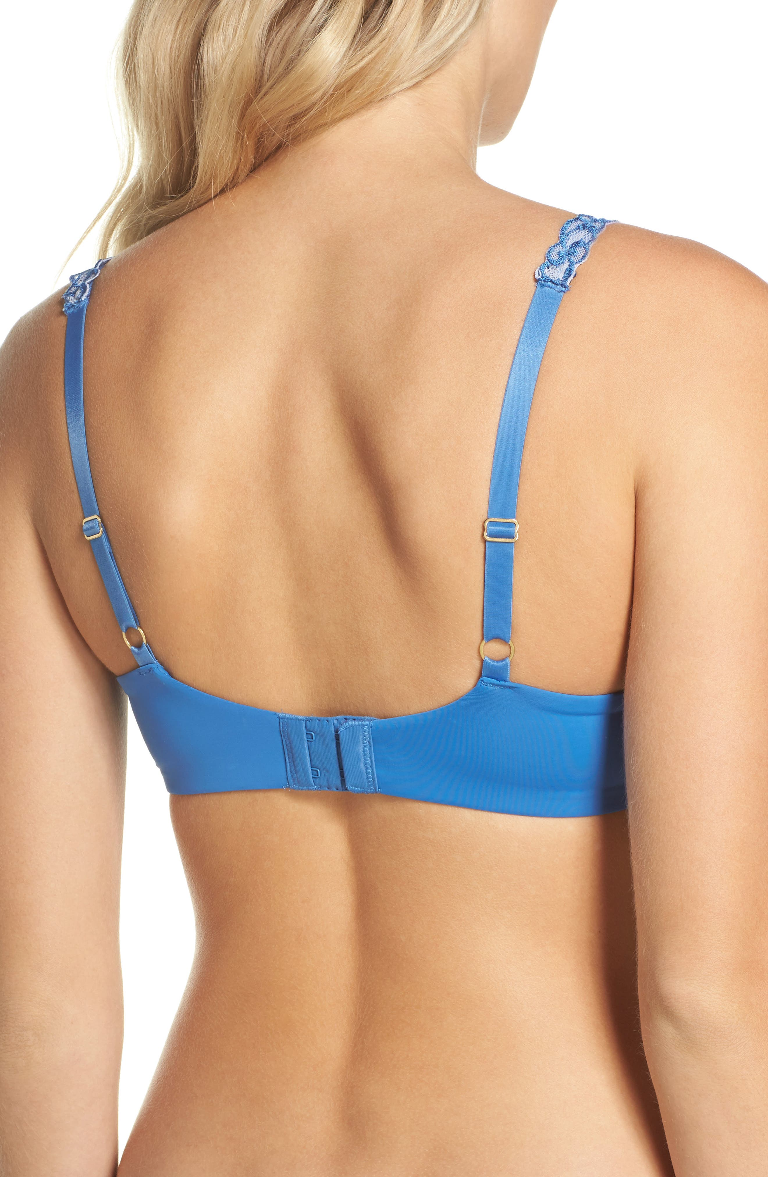 'Pure Luxe' Underwire T-Shirt Bra,                             Alternate thumbnail 2, color,                             Berry Blue/ Ice Blue