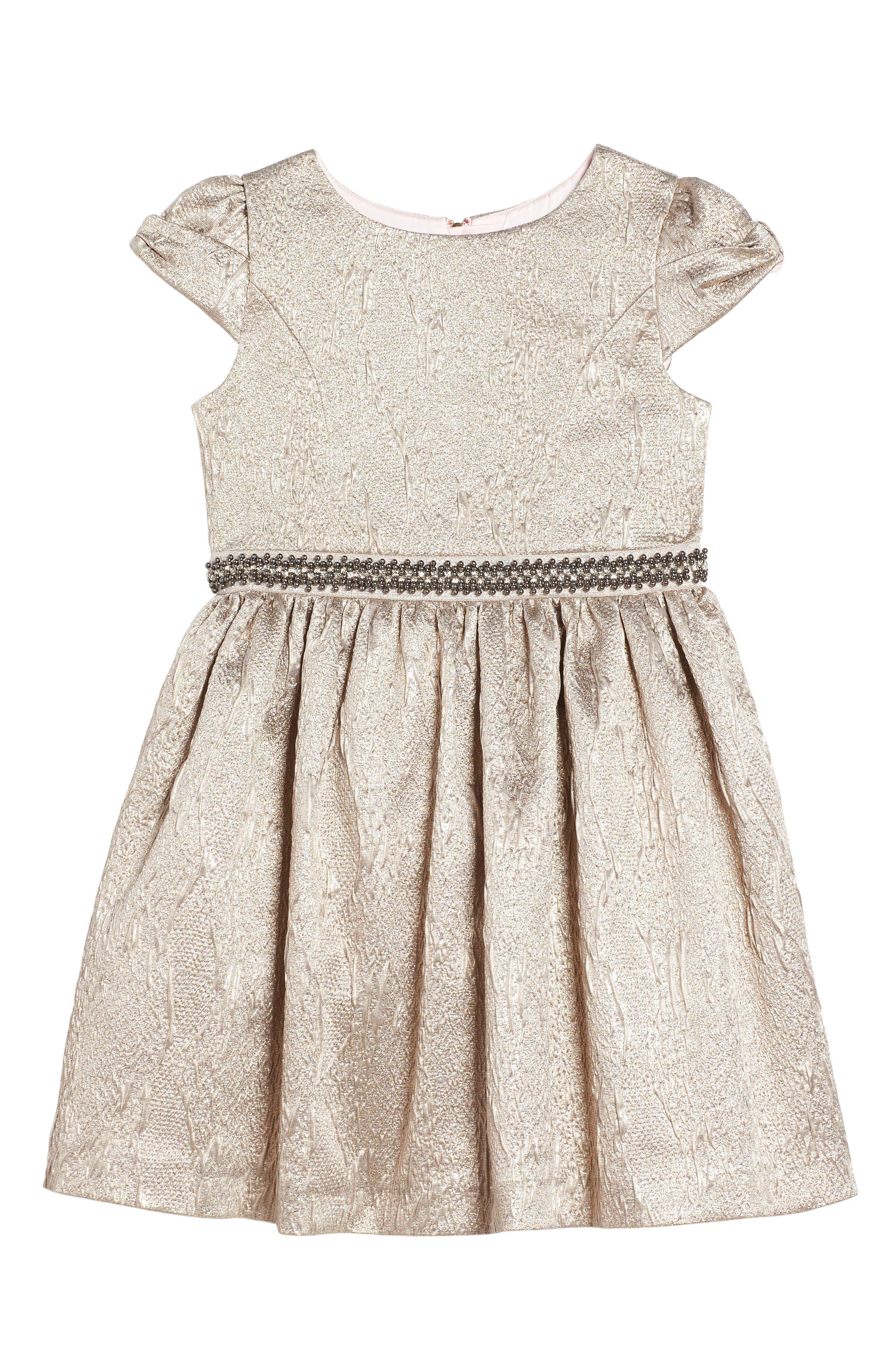 Main Image - Oh My Jacquard Party Dress (Little Girls & Big Girls)