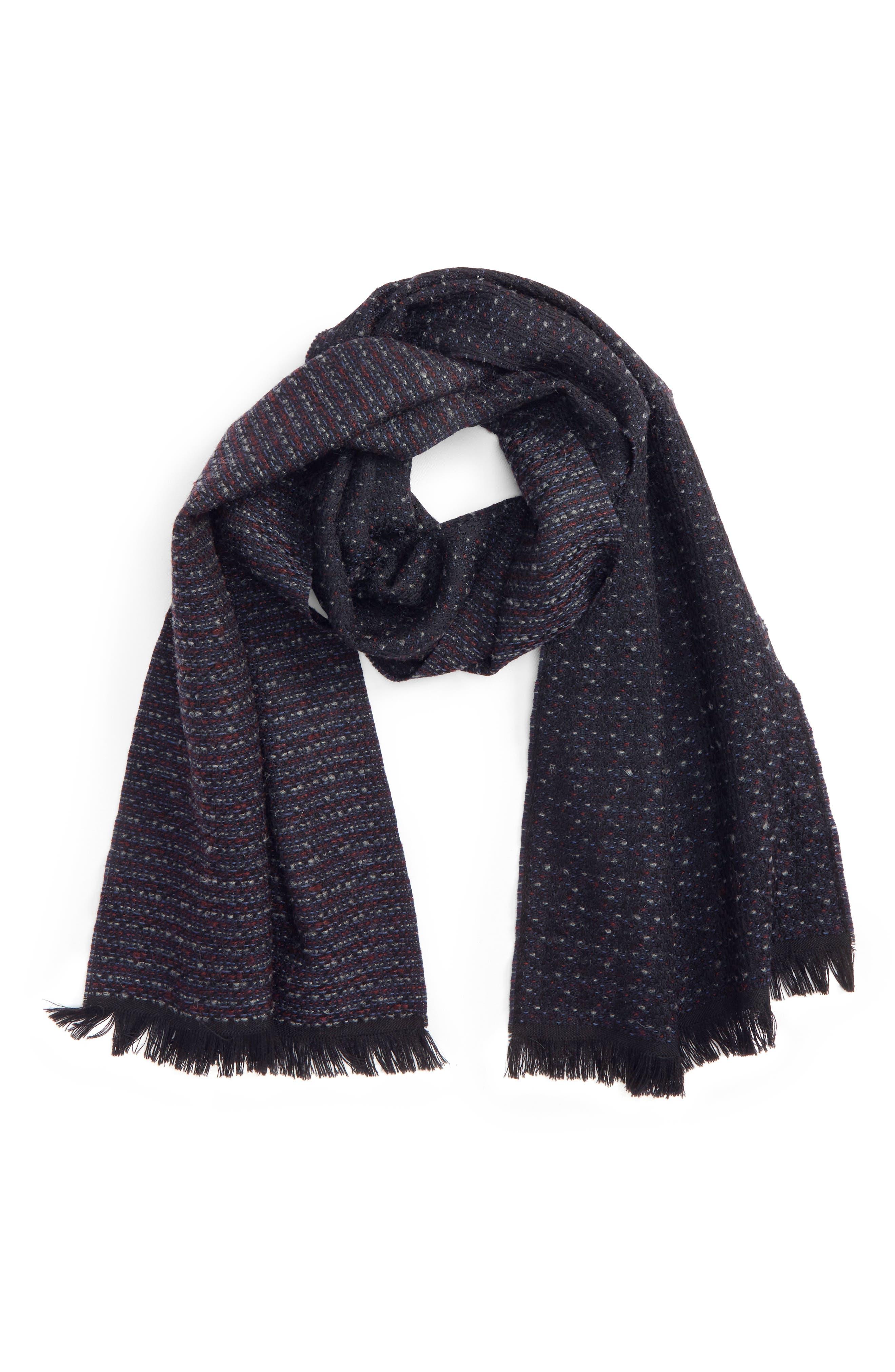 Canali Dot Wool Blend Scarf