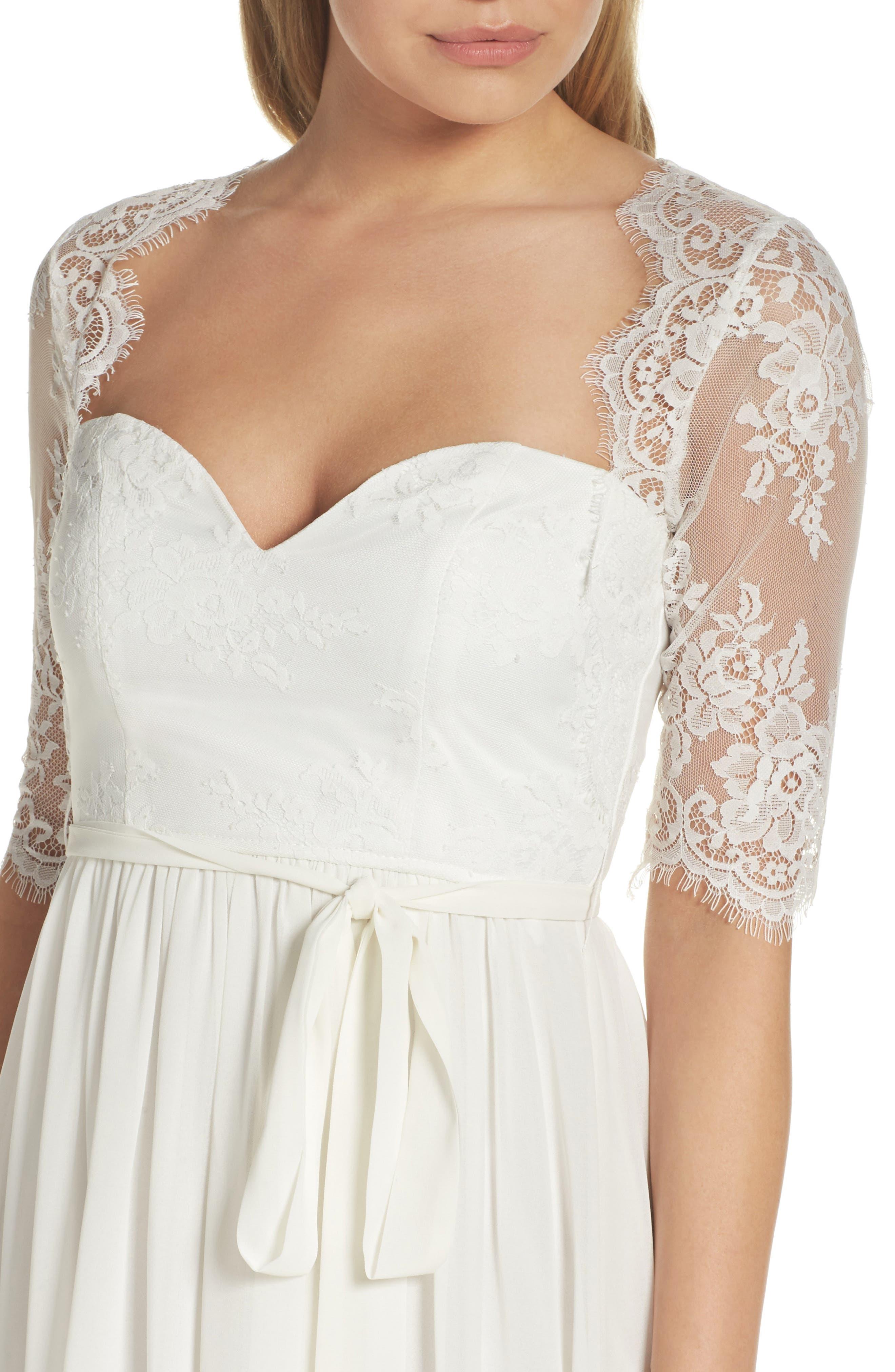 Alternate Image 4  - Lulus Sweetheart Chiffon Gown
