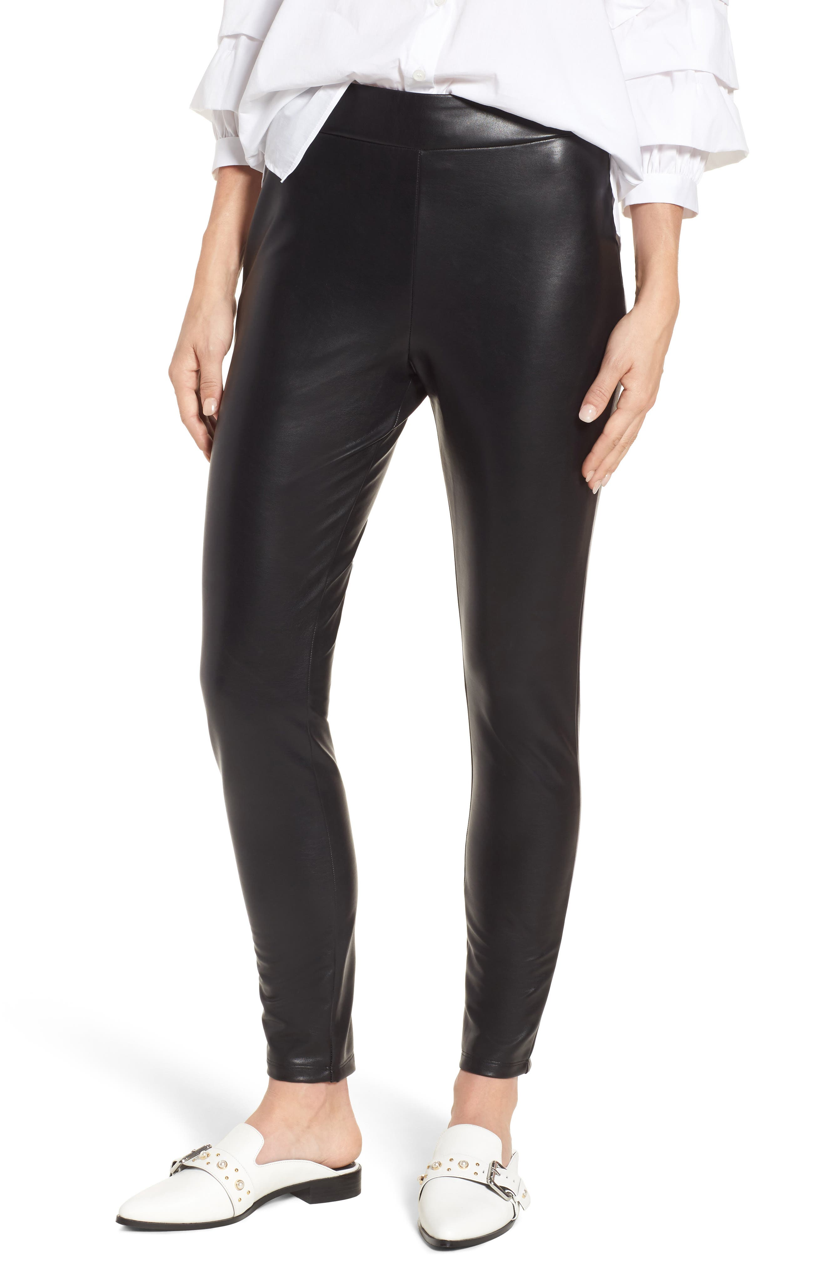 Main Image - Leith High Waist Faux Leather Leggings