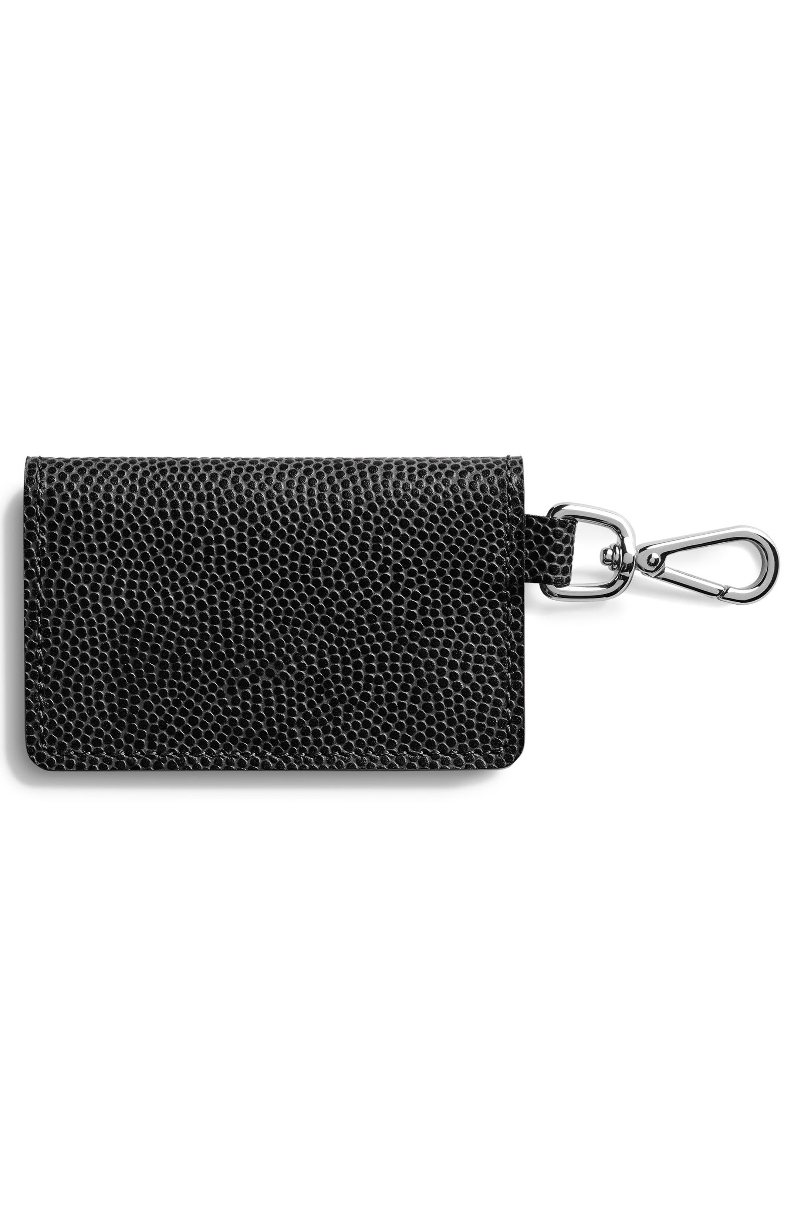 Latigo Leather Card Case,                             Alternate thumbnail 3, color,                             Black