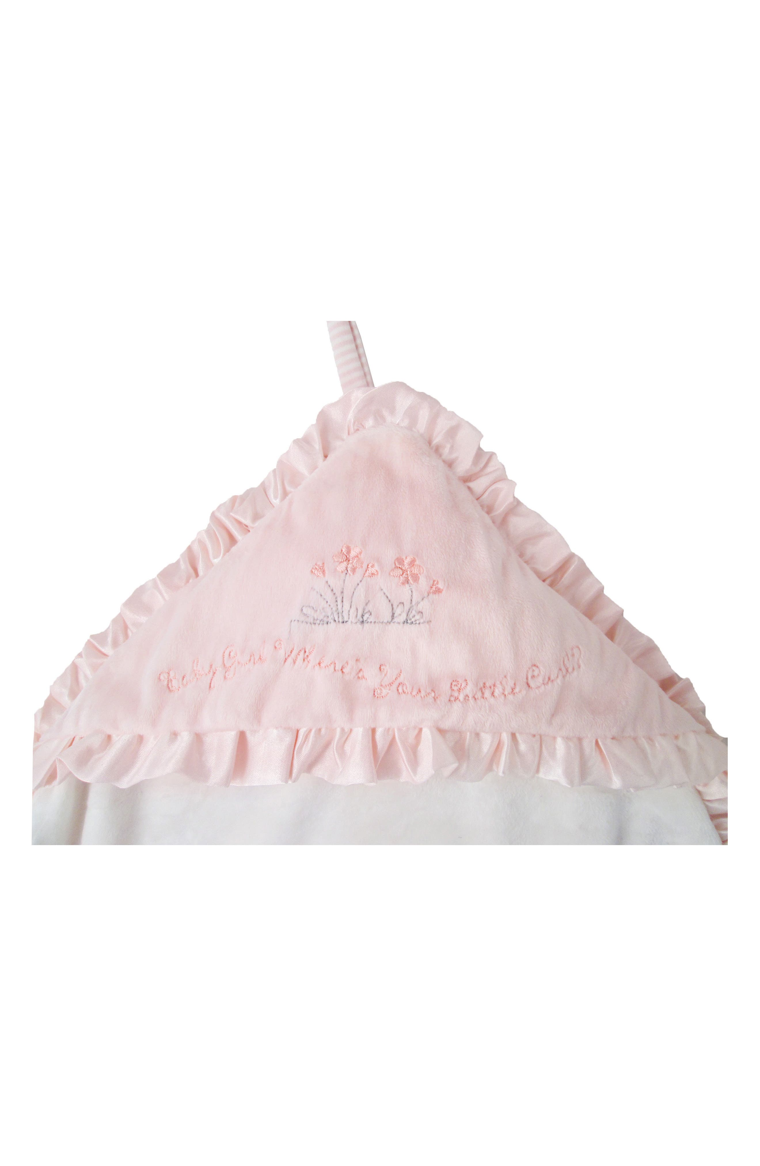 Little Curl Hooded Blanket,                             Alternate thumbnail 2, color,                             Baby Pink