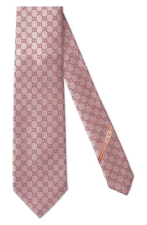 Mens pink ties skinny ties pocket squares for men nordstrom gucci fedra silk jacquard tie ccuart Images