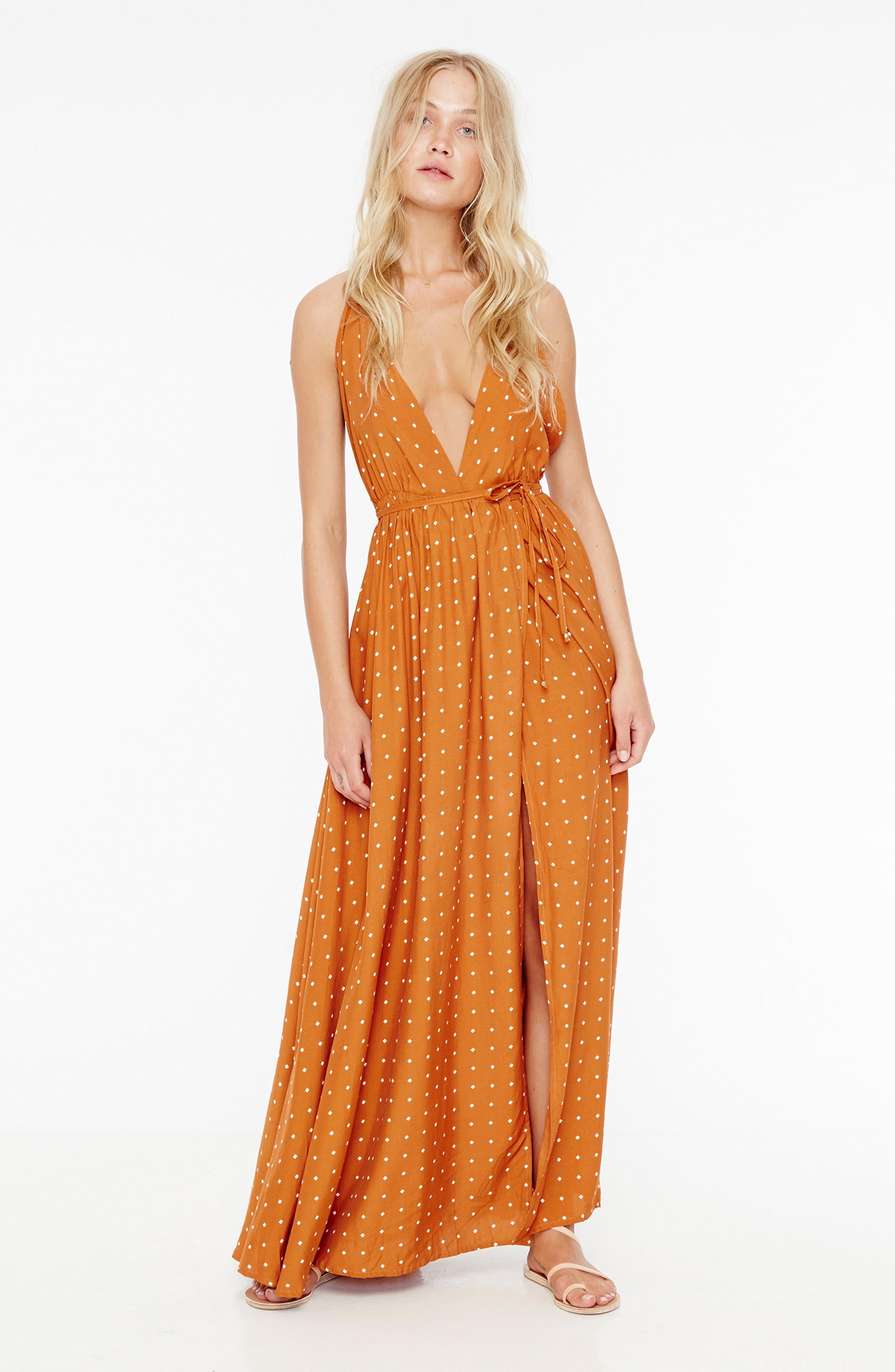 Santa Rosa Maxi Dress,                             Alternate thumbnail 7, color,                             Stefano Print - Ginger