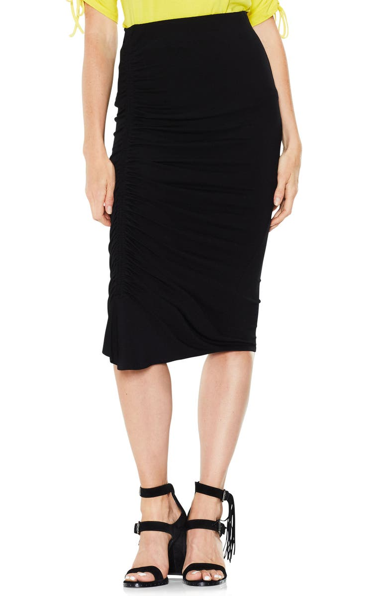 Side Ruched Pencil Skirt