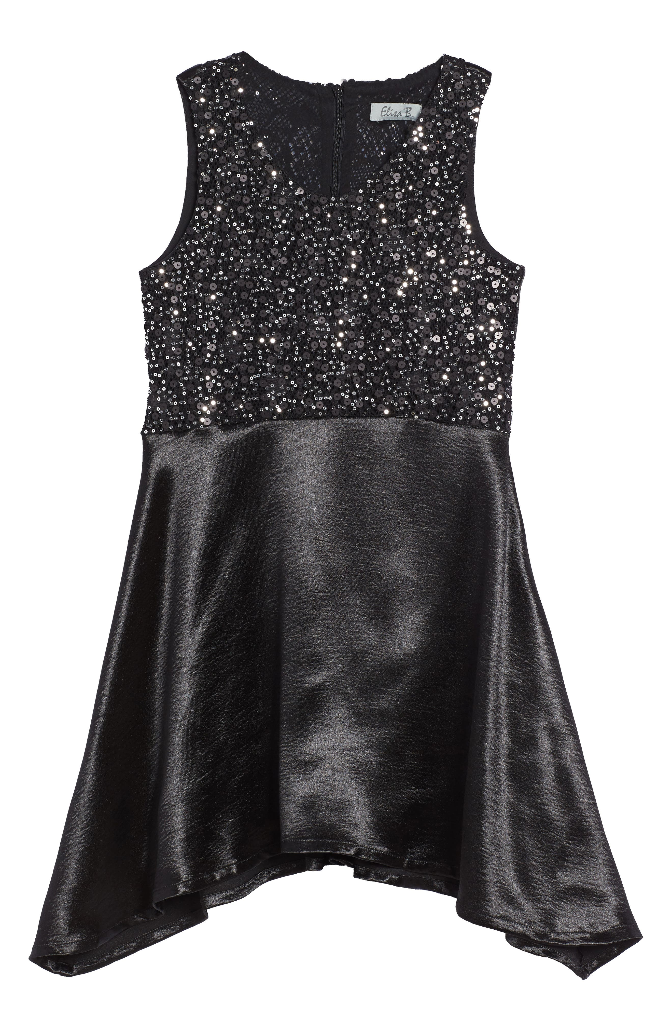 Elisa B Mixed Sequin Dress (Big Girls)