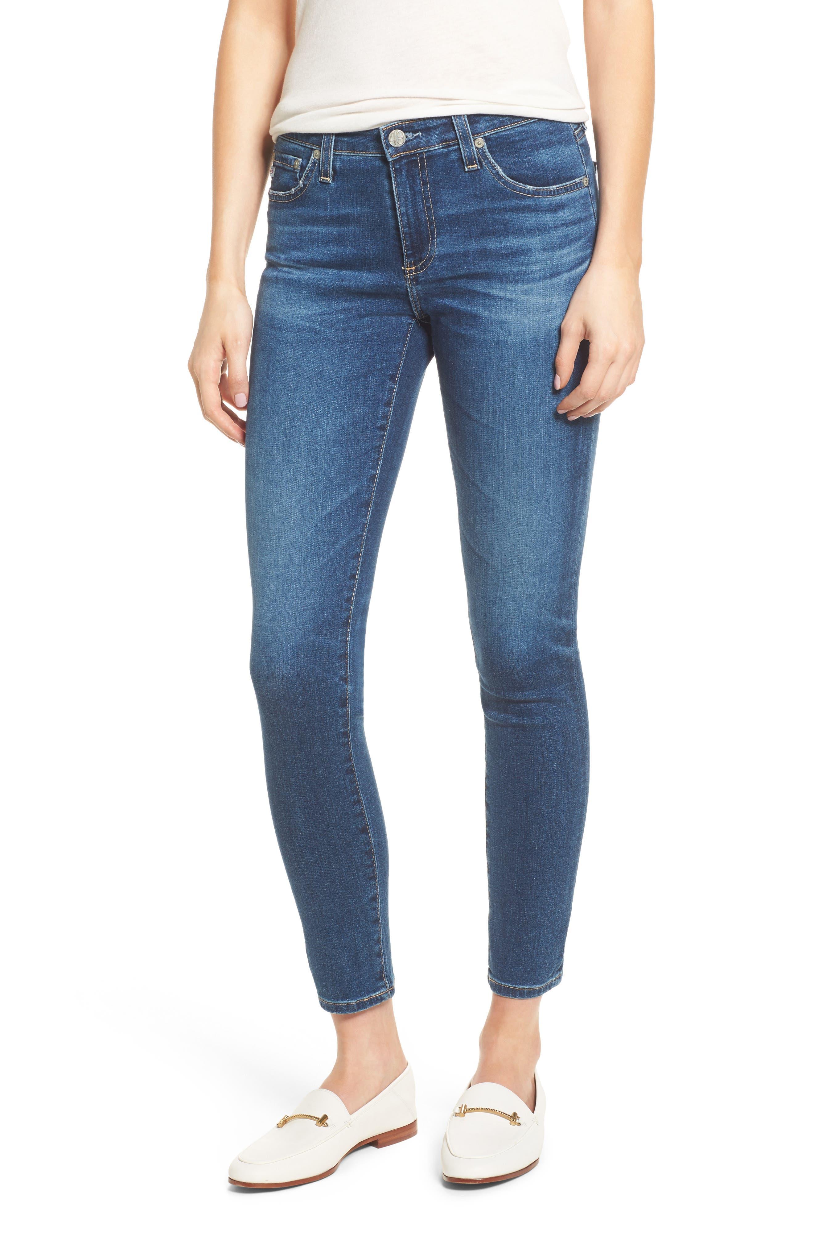 Alternate Image 1 Selected - AG The Legging Ankle Super Skinny Jeans
