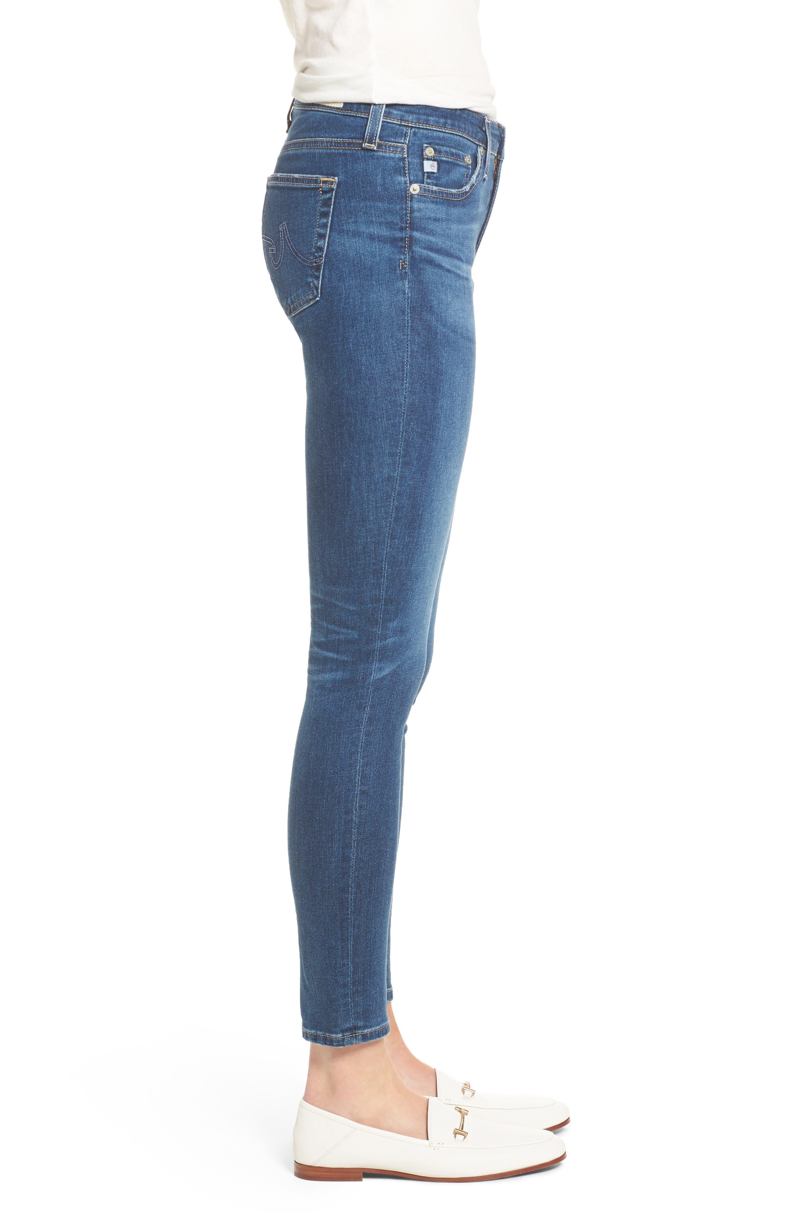 Alternate Image 3  - AG The Legging Ankle Super Skinny Jeans