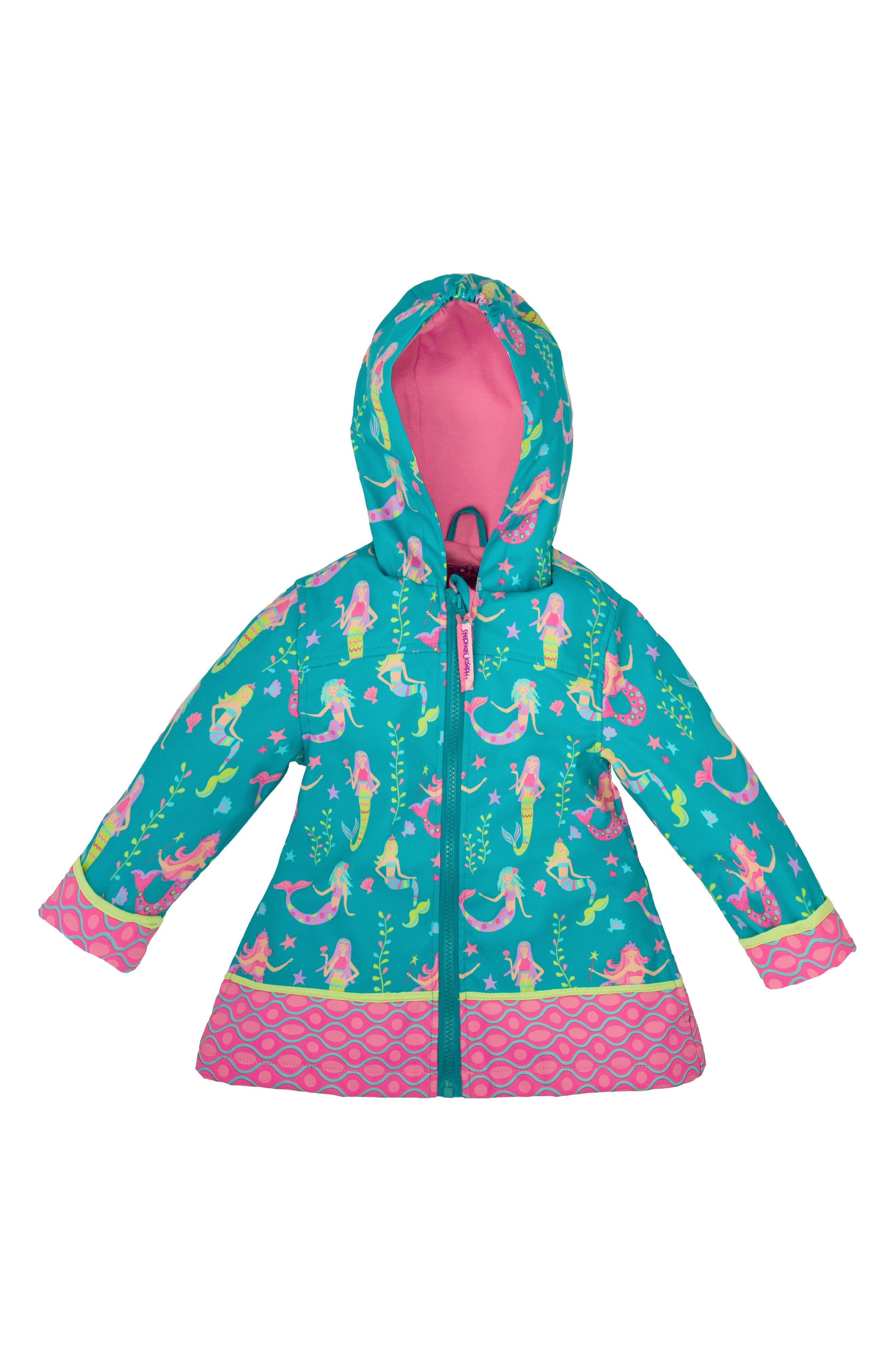 Alternate Image 2  - Stephen Joseph Mermaid Raincoat & Umbrella Set (Toddler Girls, Little Girls & Big Girls)