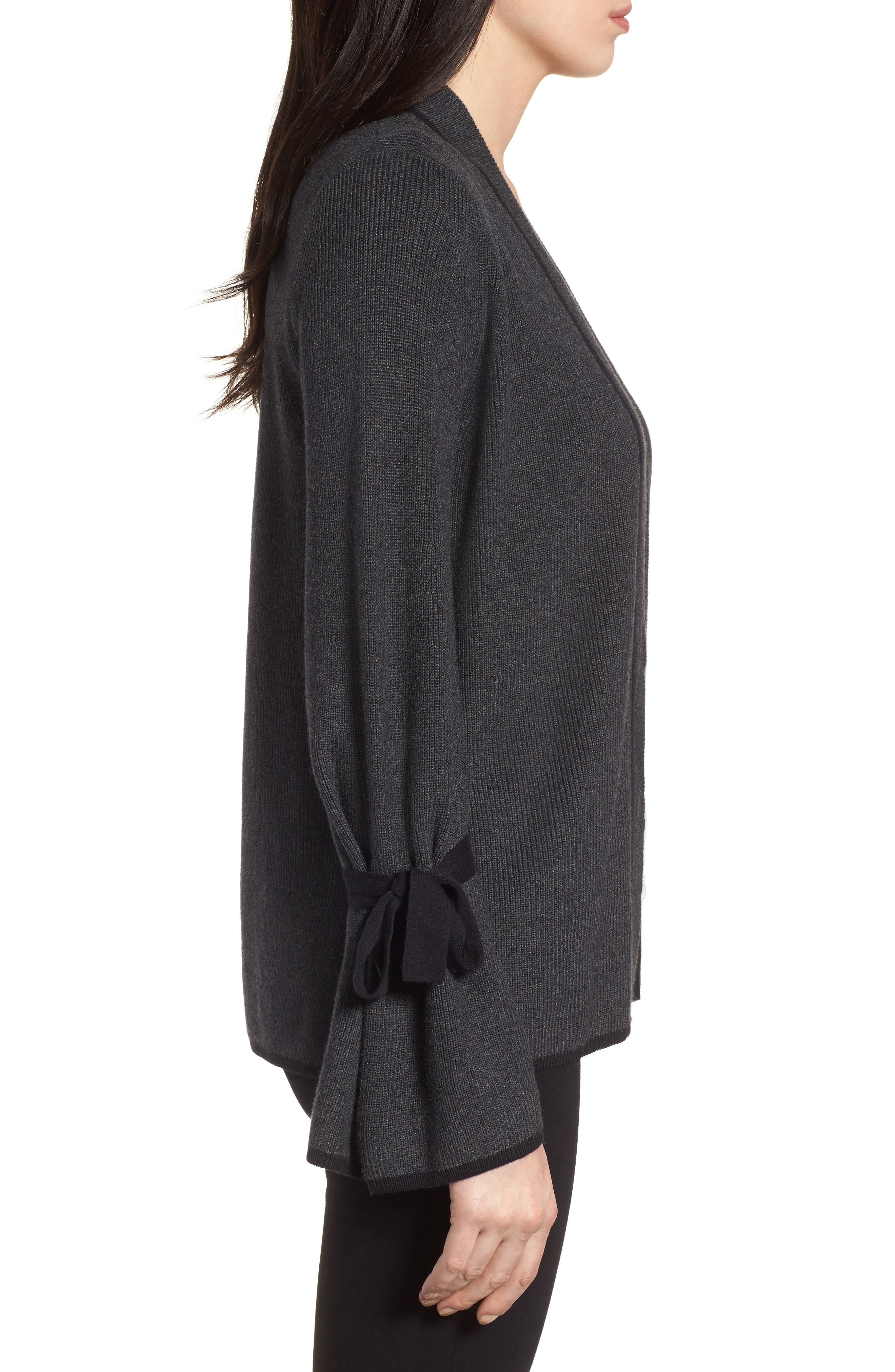 Alternate Image 3  - CeCe Tie Bell Sleeve Cardigan