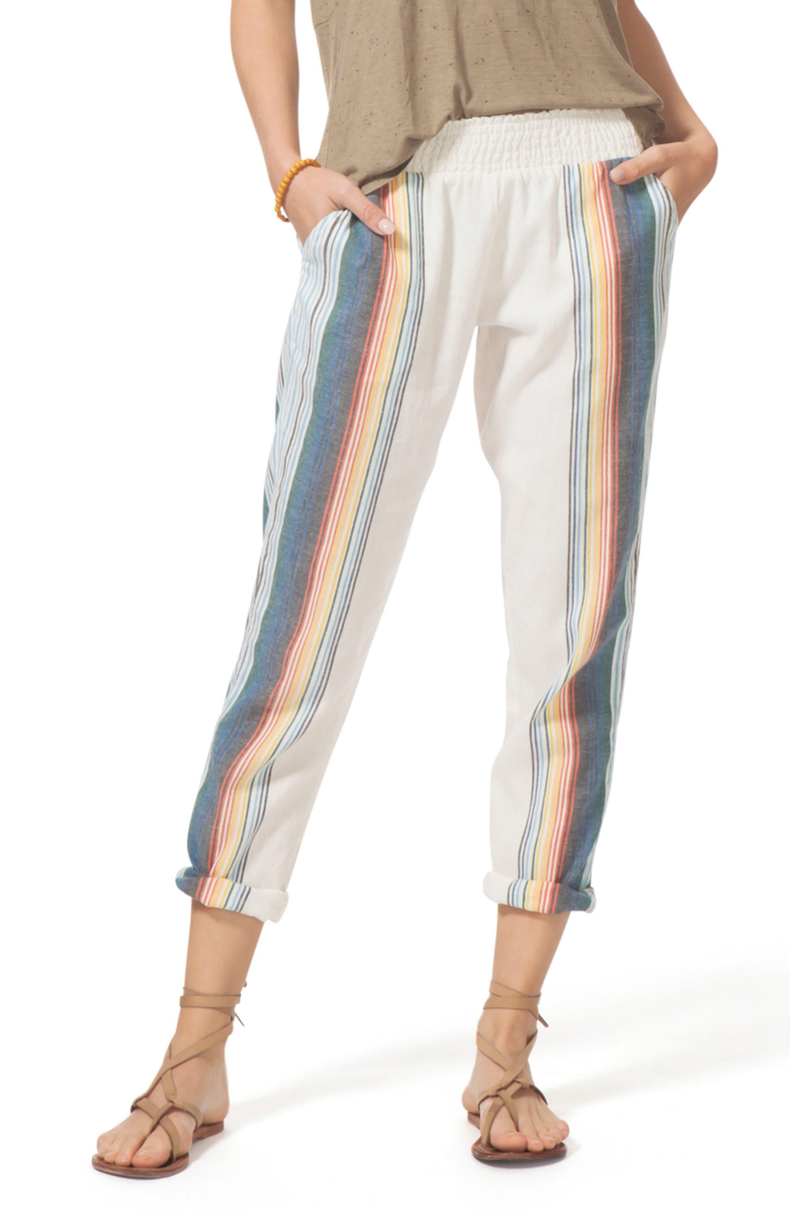 Beach Bazaar Pants,                         Main,                         color, Vanilla