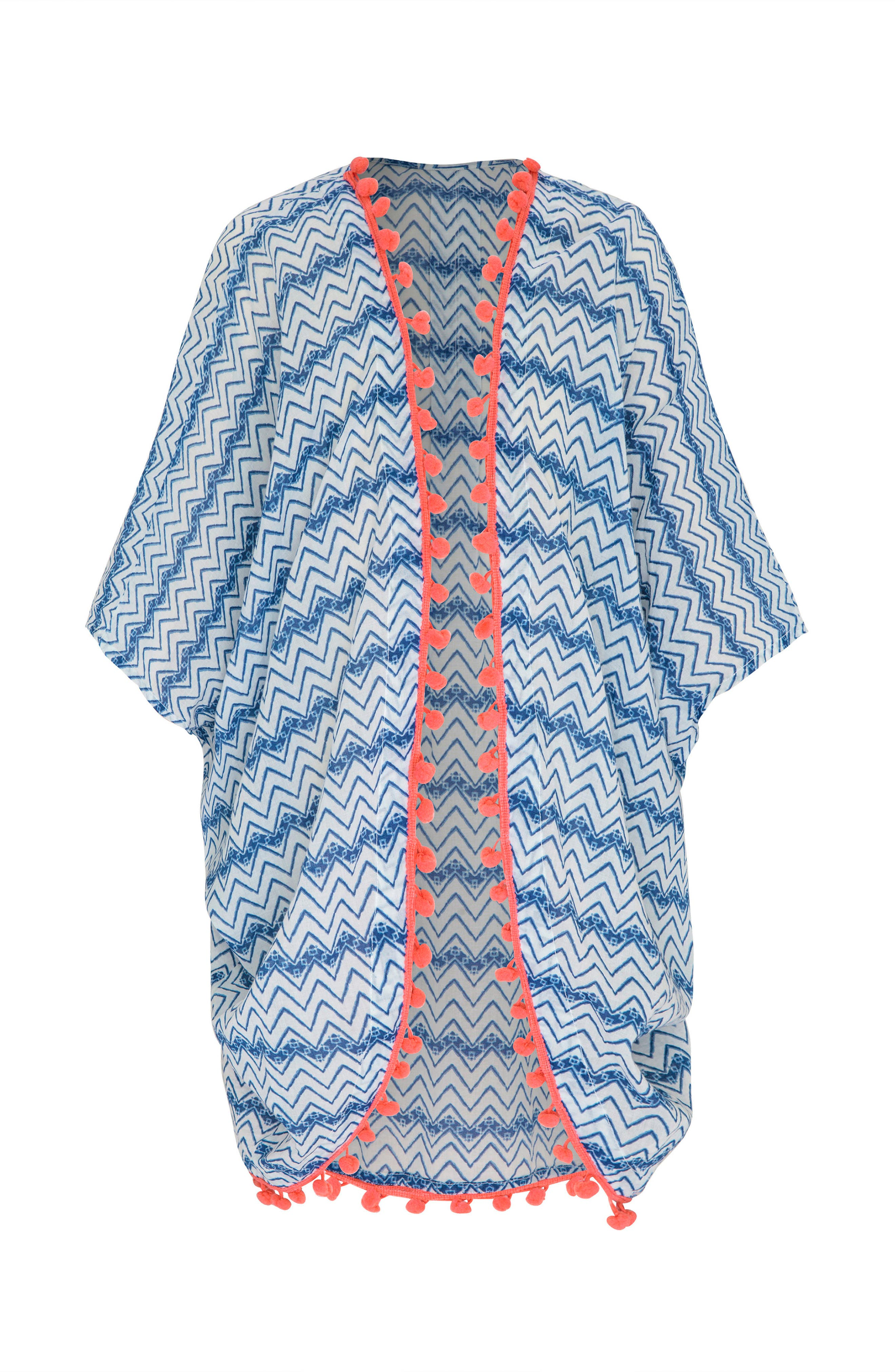 Main Image - Platypus Australia Print Cover-Up Kimono (Big Girls)